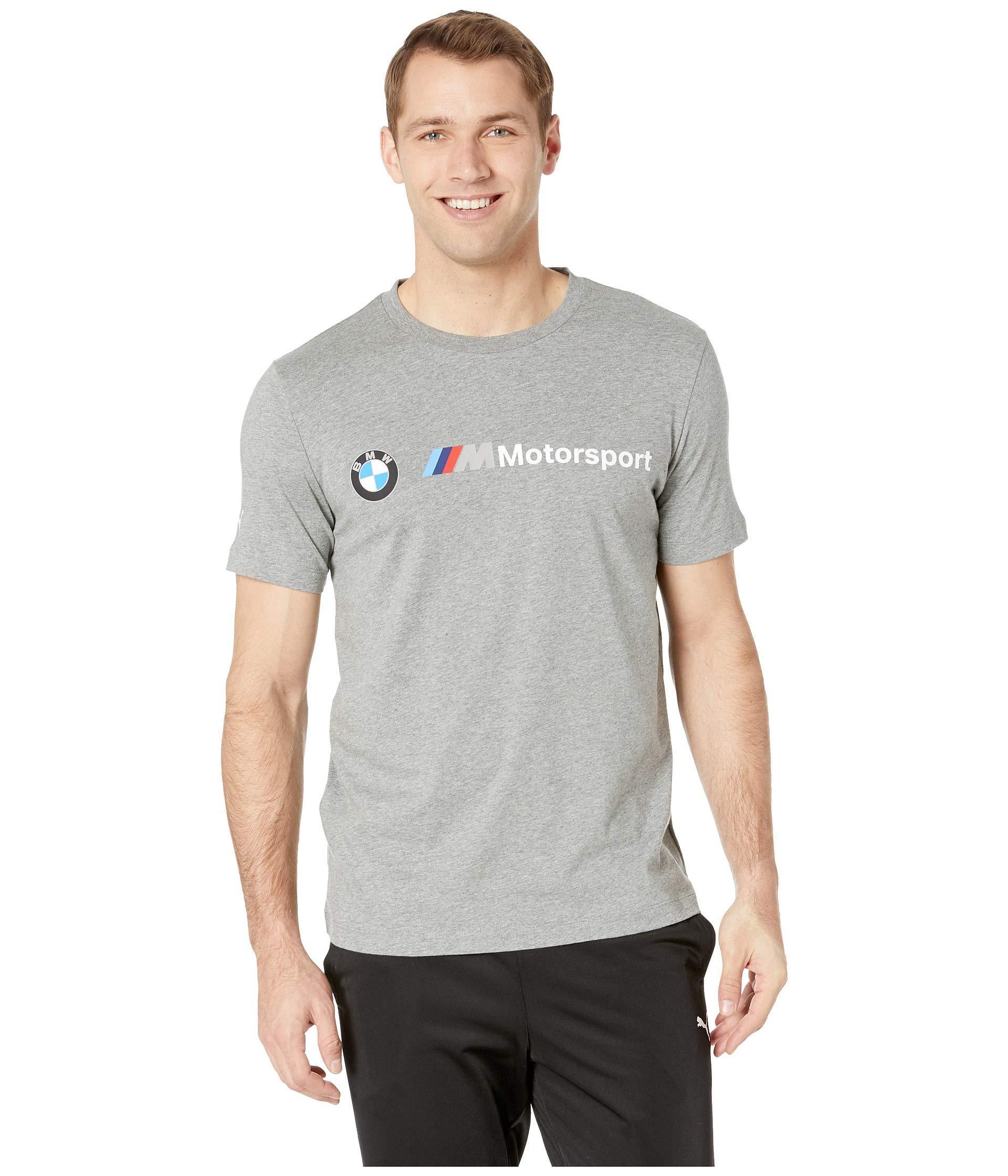 4049dc96069 Lyst - PUMA Bmw Mms Logo Tee ( White) Men's T Shirt in Gray for Men