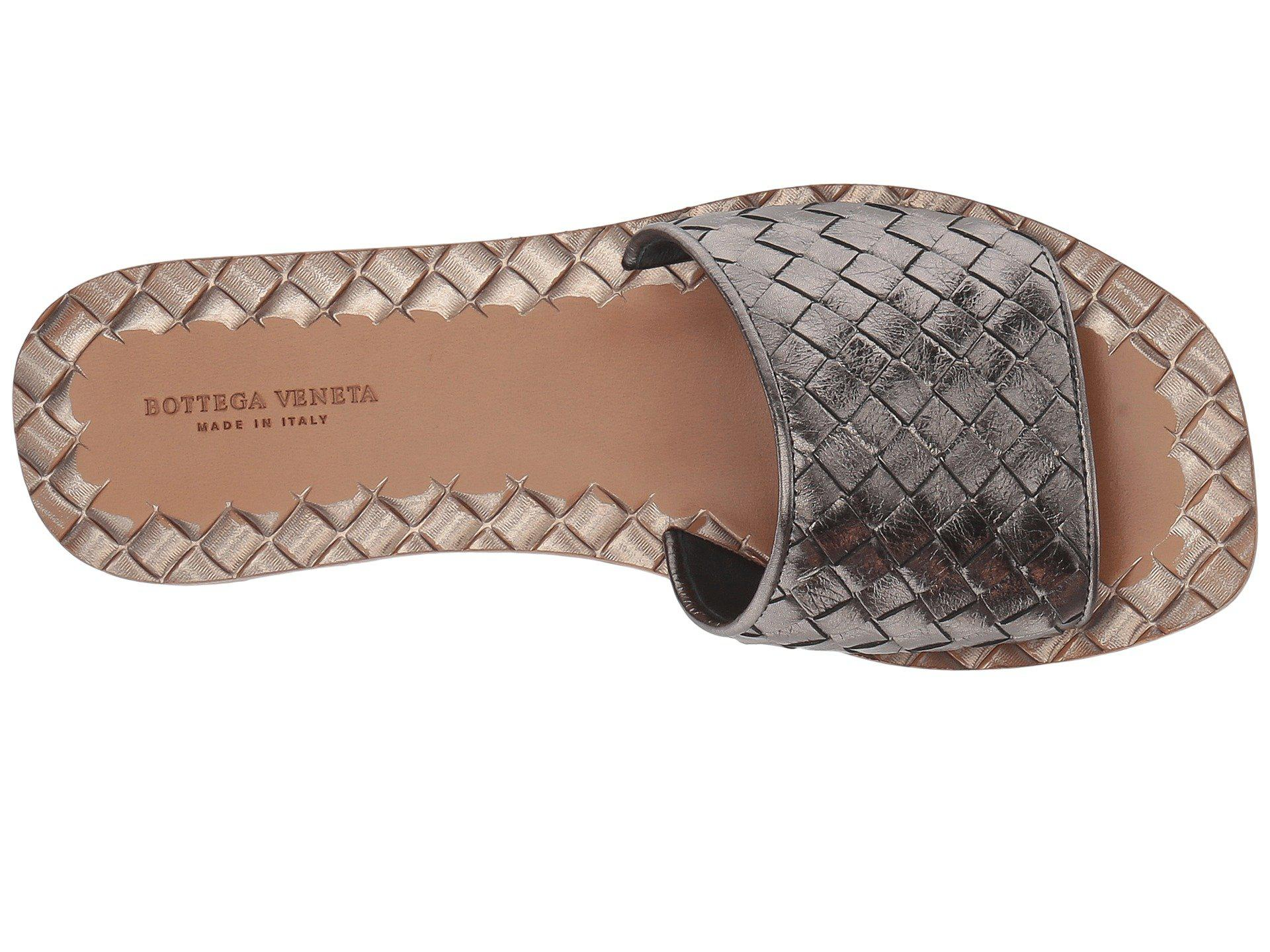 5bc421f09e0588 Bottega Veneta - Metallic Intrecciato Sandal (platinum) Women s Sandals -  Lyst. View fullscreen