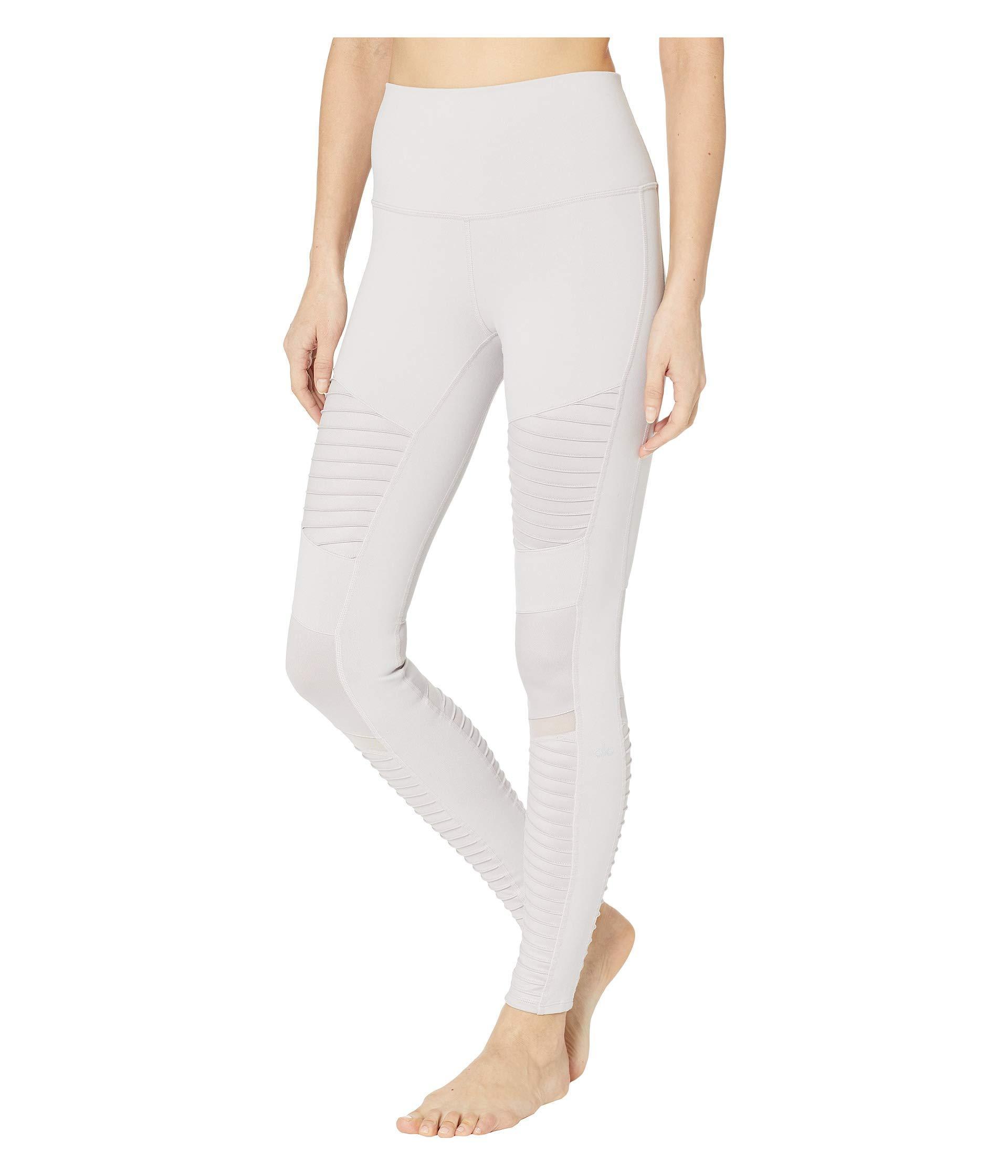 b38a722f2b Lyst - Alo Yoga High Waisted Moto Leggings (pristine/pristine Glossy) Women's  Workout
