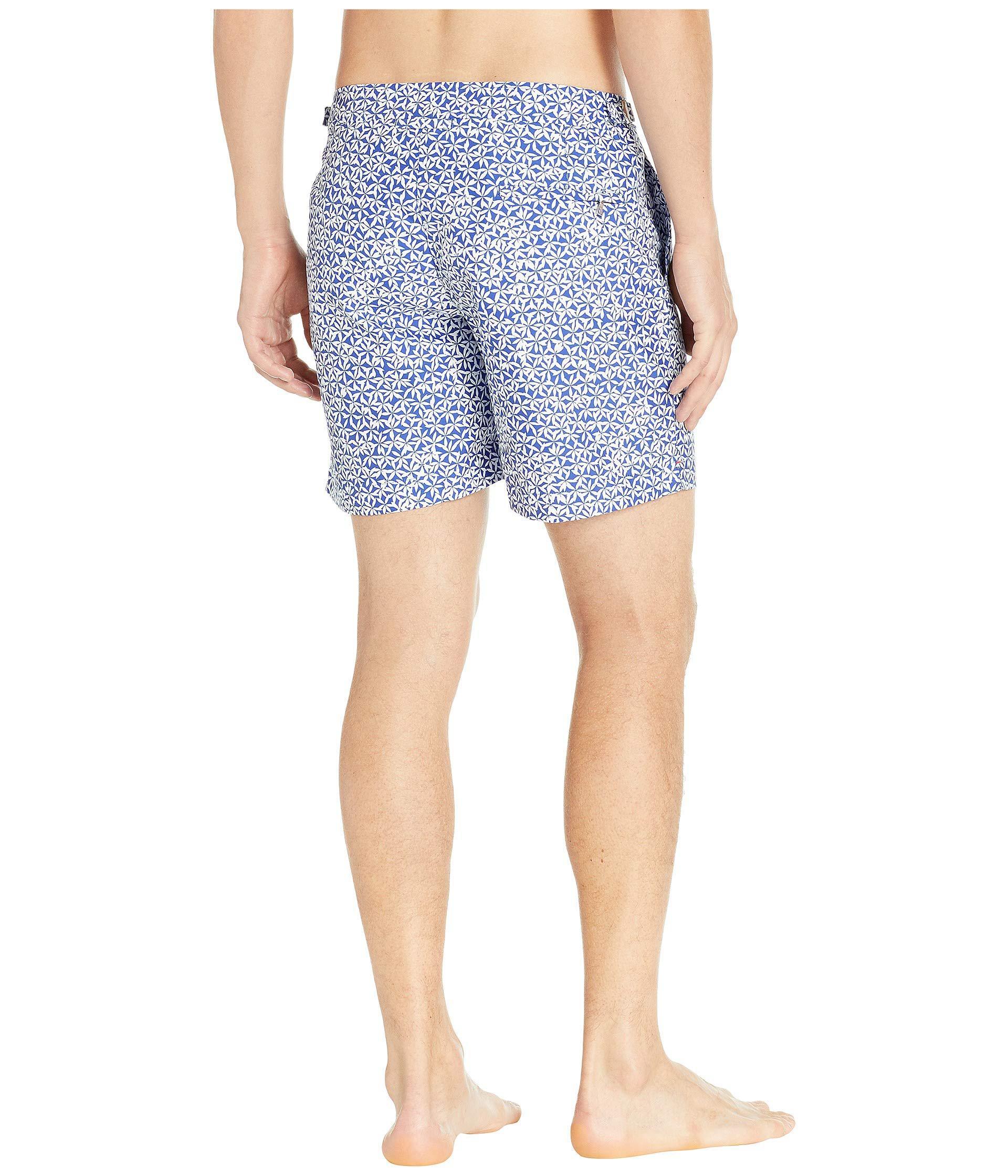 3f8357422b Orlebar Brown - Blue Bulldog Foglia Swim Trunks (mazanine 2) Men's Swimwear  for Men. View fullscreen