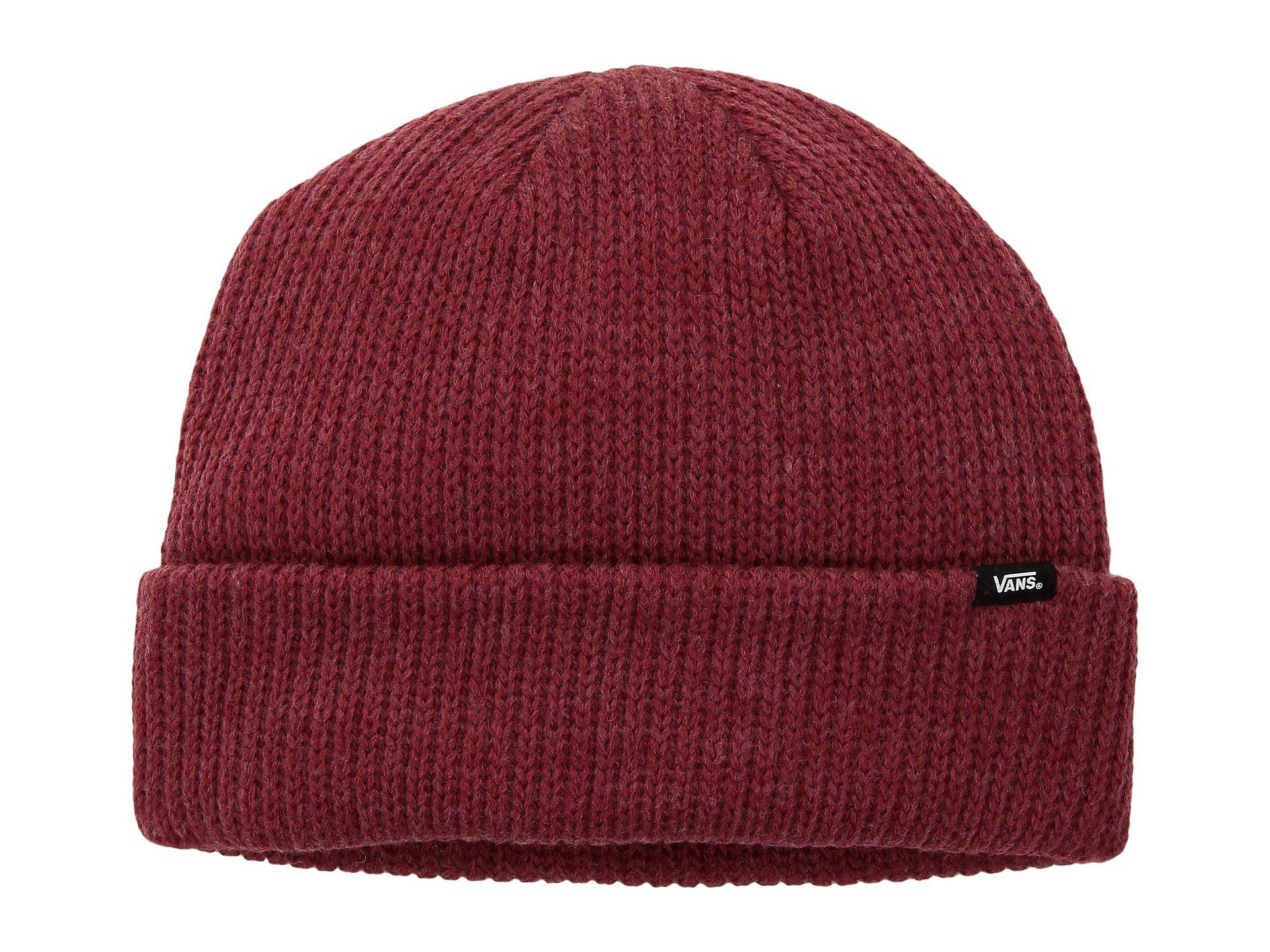 5f8d0573eec Lyst - Vans Core Basic Beanie in Red