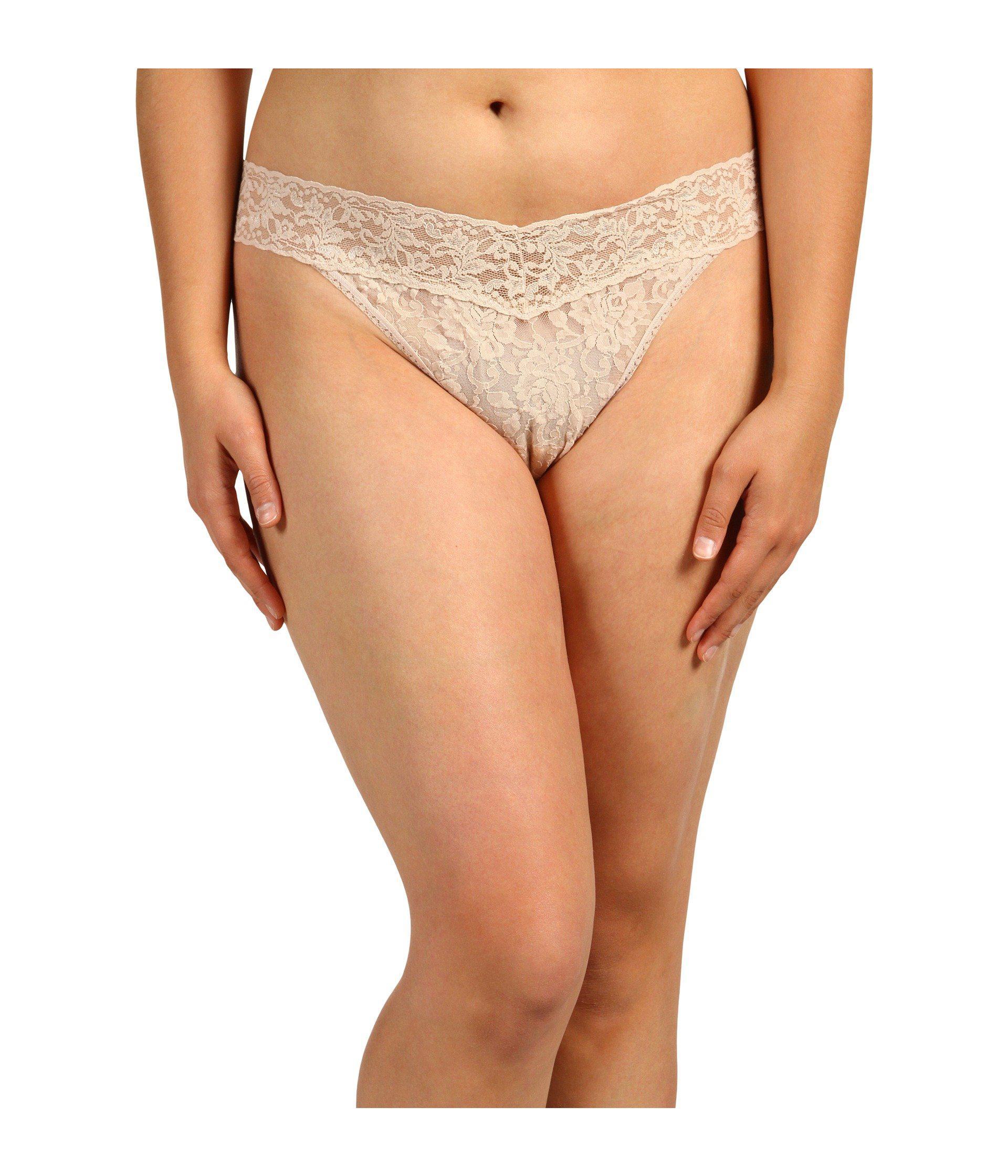 16c7f301f Hanky Panky. Natural Plus Size Signature Lace Original Rise Thong (black) Women s  Underwear