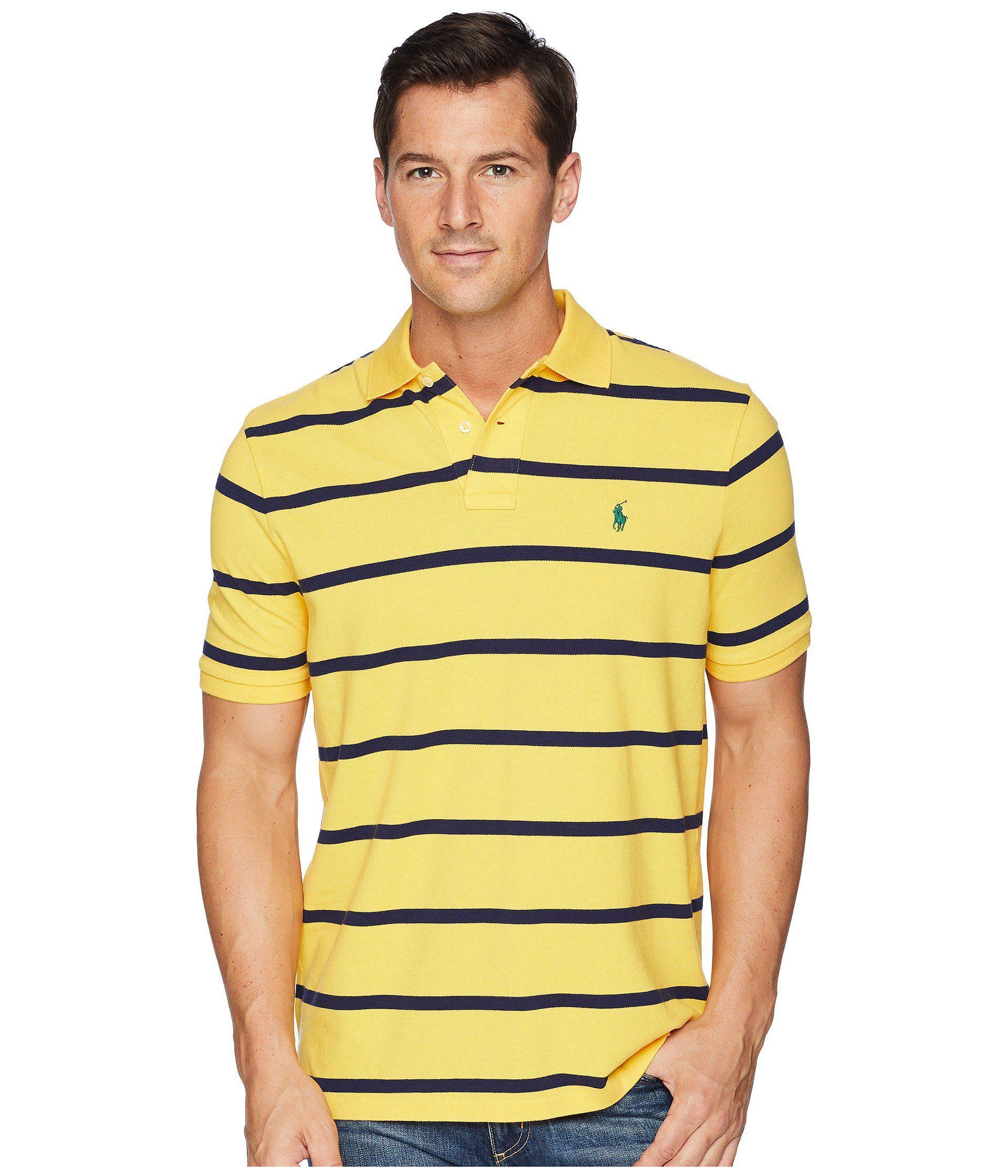 Lyst - Polo Ralph Lauren Yarn-dyed Mesh Short Sleeve Knit in Yellow ... 366d74960038