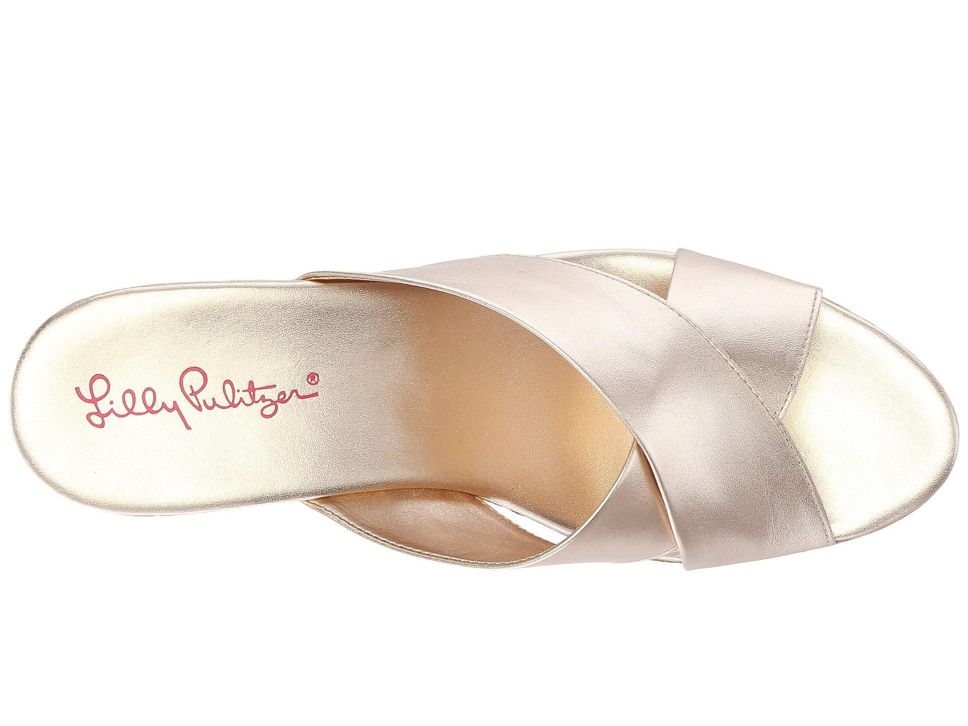 78c315fef8bc Lyst - Lilly Pulitzer Selena Slide (gold Metallic) Women s Slide ...