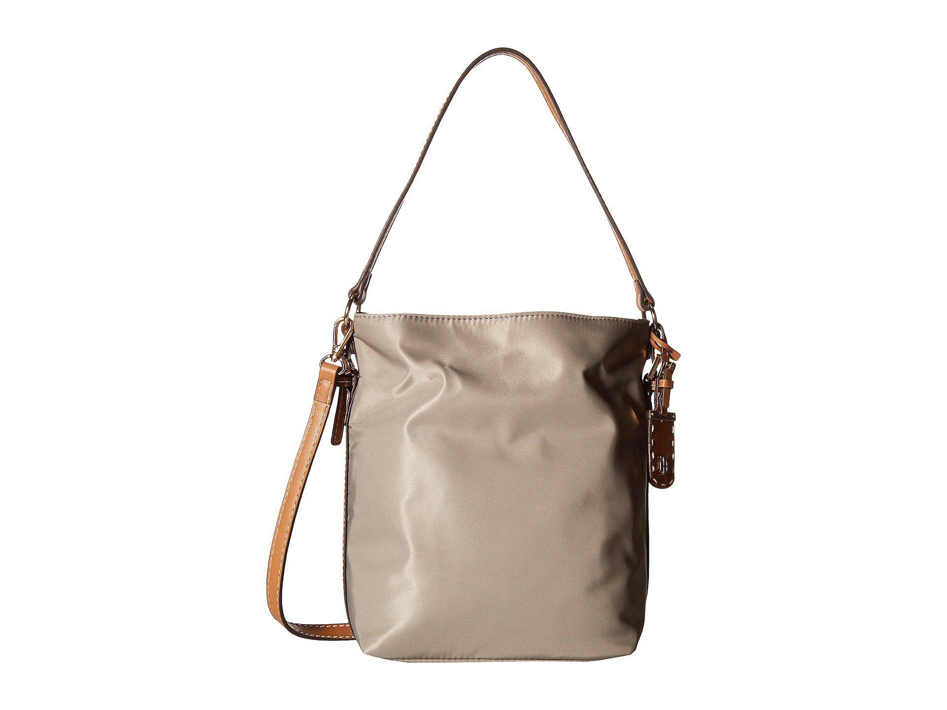 Tommy Hilfiger Julia Convertible Solid Nylon Hobo (Khaki) Hobo Handbags ikTWdw