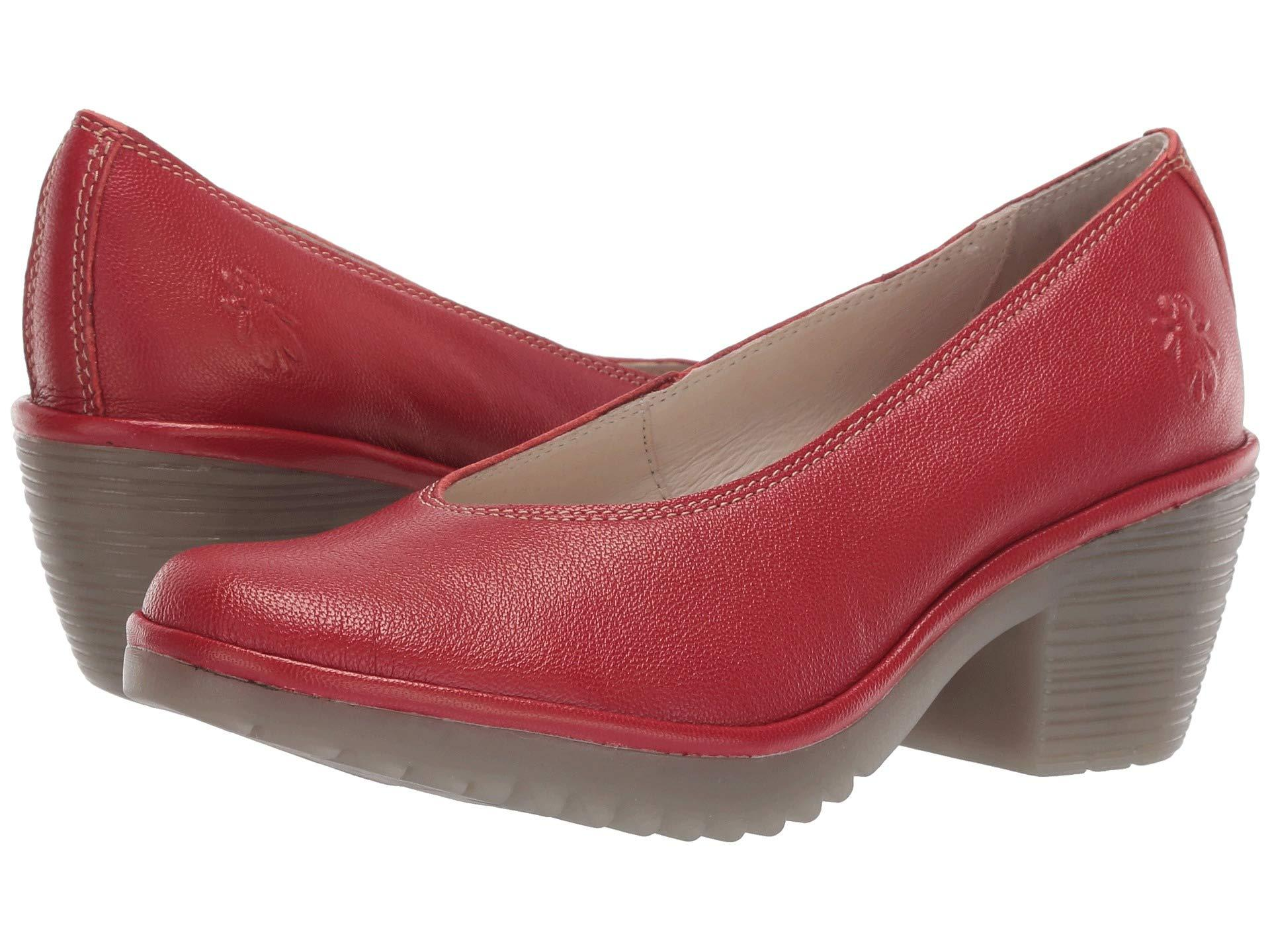 8b9548bcaff Lyst - Fly London Walo988fly (silver Borgogna) Women s Shoes in Red