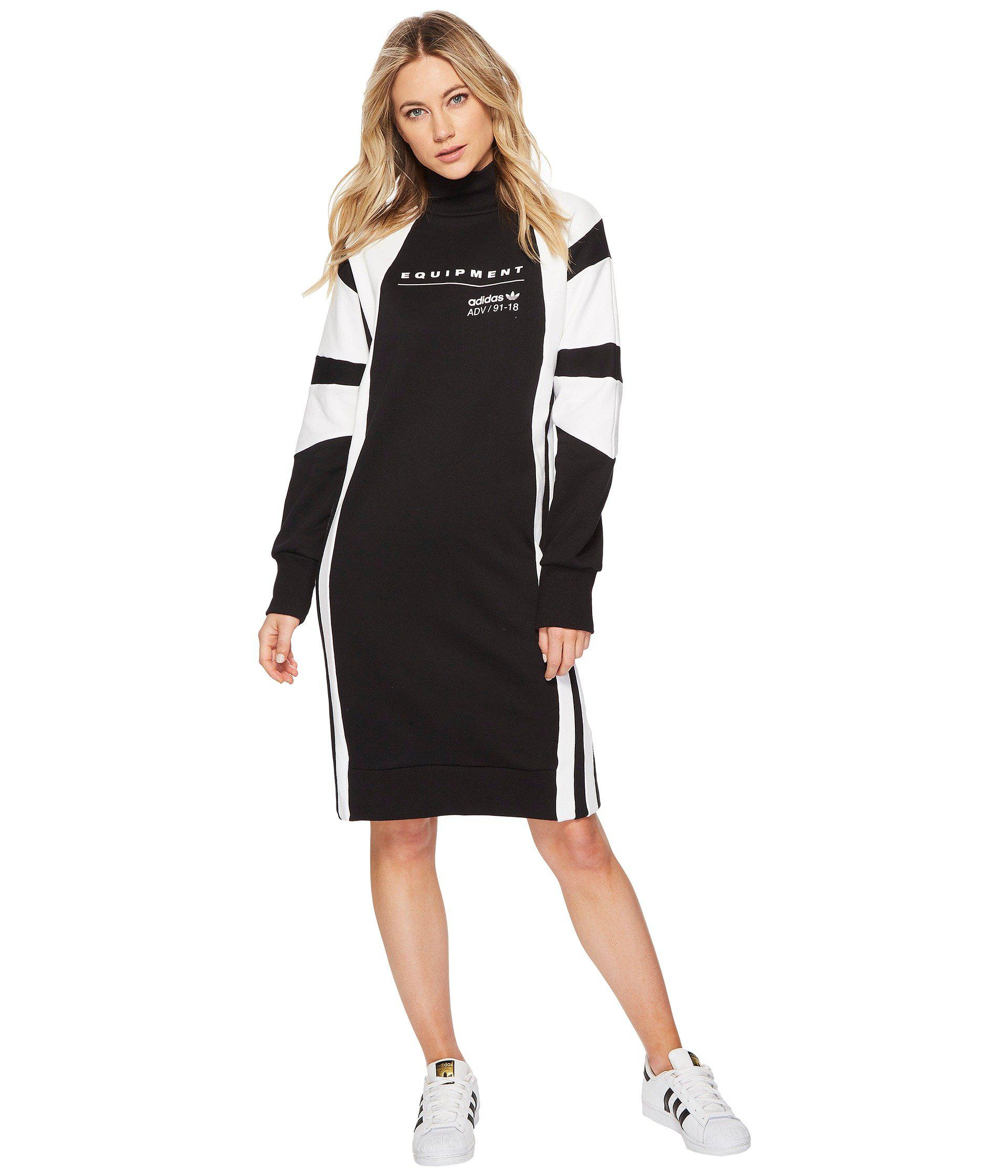 4de5f2869259 Lyst - adidas Originals Eqt Dress in Black