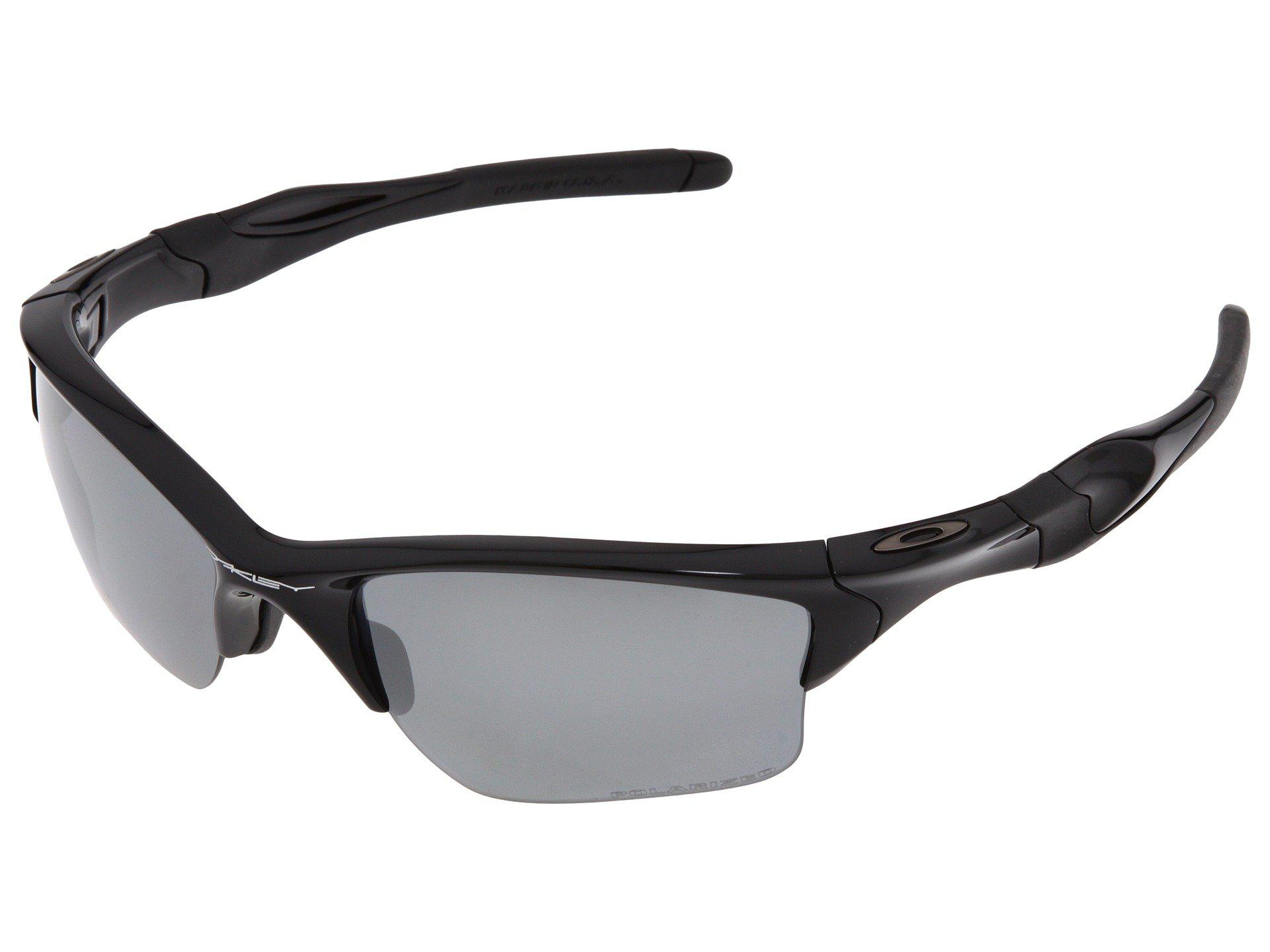 42398c0297 Oakley. Men s Half Jacket 2.0 Xl Polarized (polished Black W black Iridium  Polarized) Sport Sunglasses