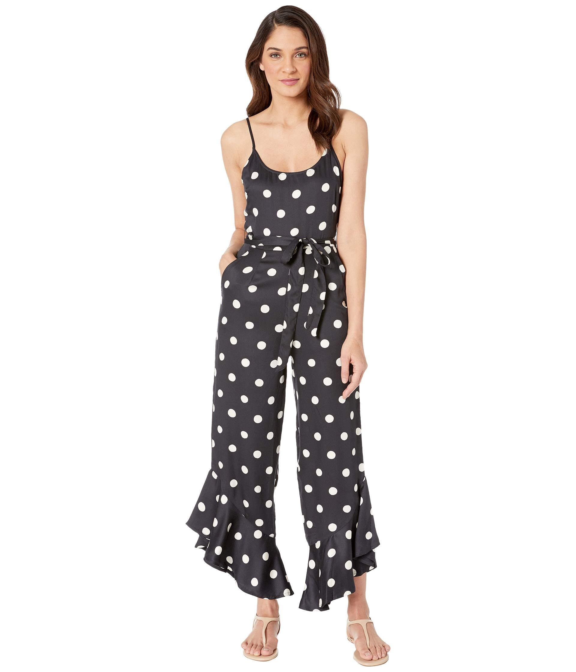 597693298952 Lyst - Billabong Jump In Polka Dot Jumpsuit in Black