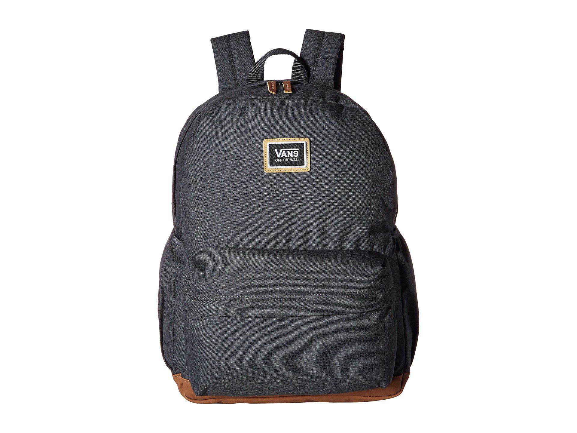 67d18425b22 Lyst - Vans Realm Plus Backpack (asphalt) Backpack Bags in Black