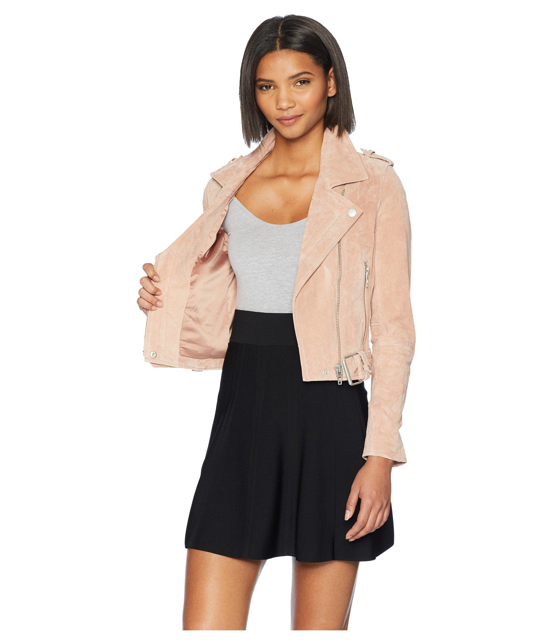 94dac77e0 Blank NYC Suede Moto Jacket (lilac) Women's Coat in Black - Lyst