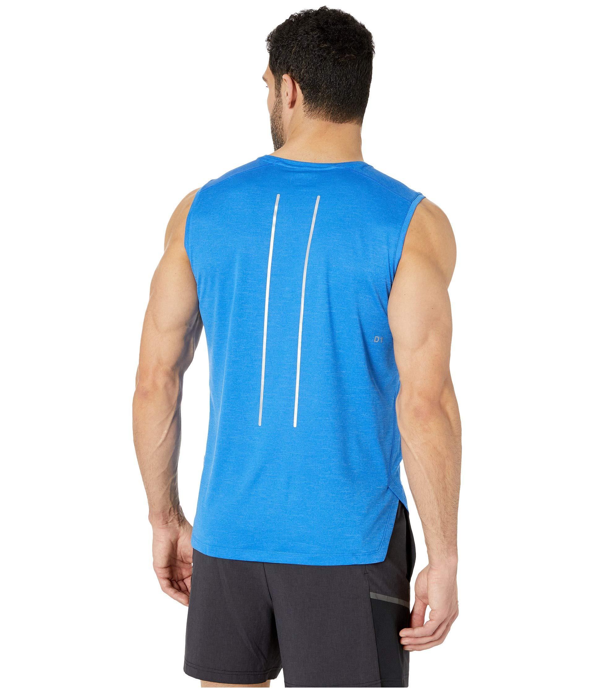 8f3a062c8d1fa Asics - Blue Lite-show Sleeveless Top (dark Grey) Men s Sleeveless for Men.  View fullscreen
