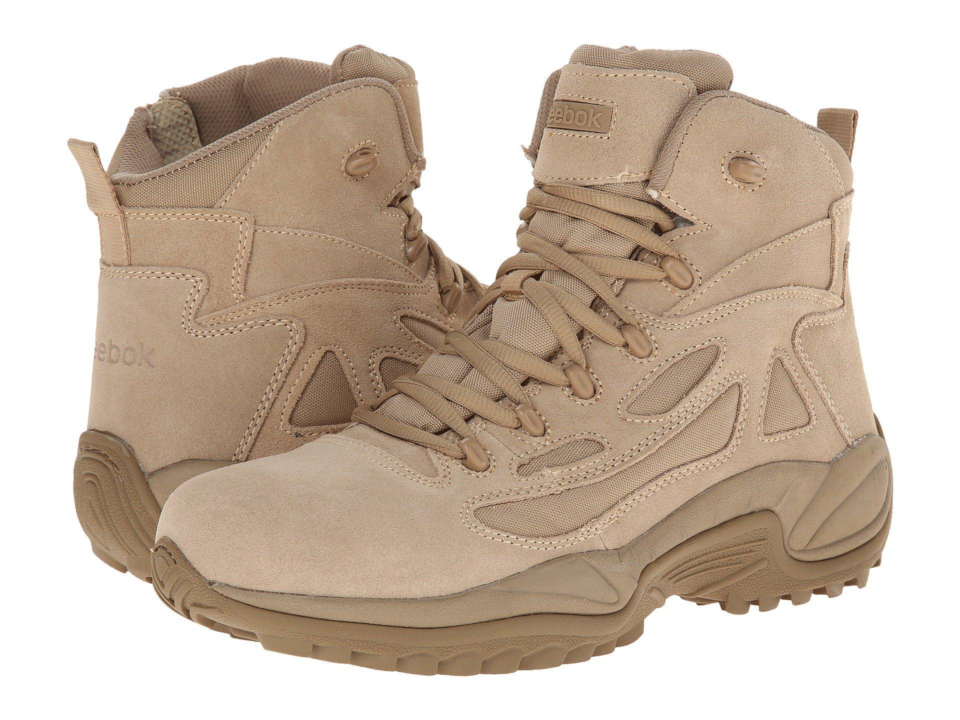61b473f67bde Lyst - Reebok Rapid Response 6 (desert Tan) Men s Work Boots in ...
