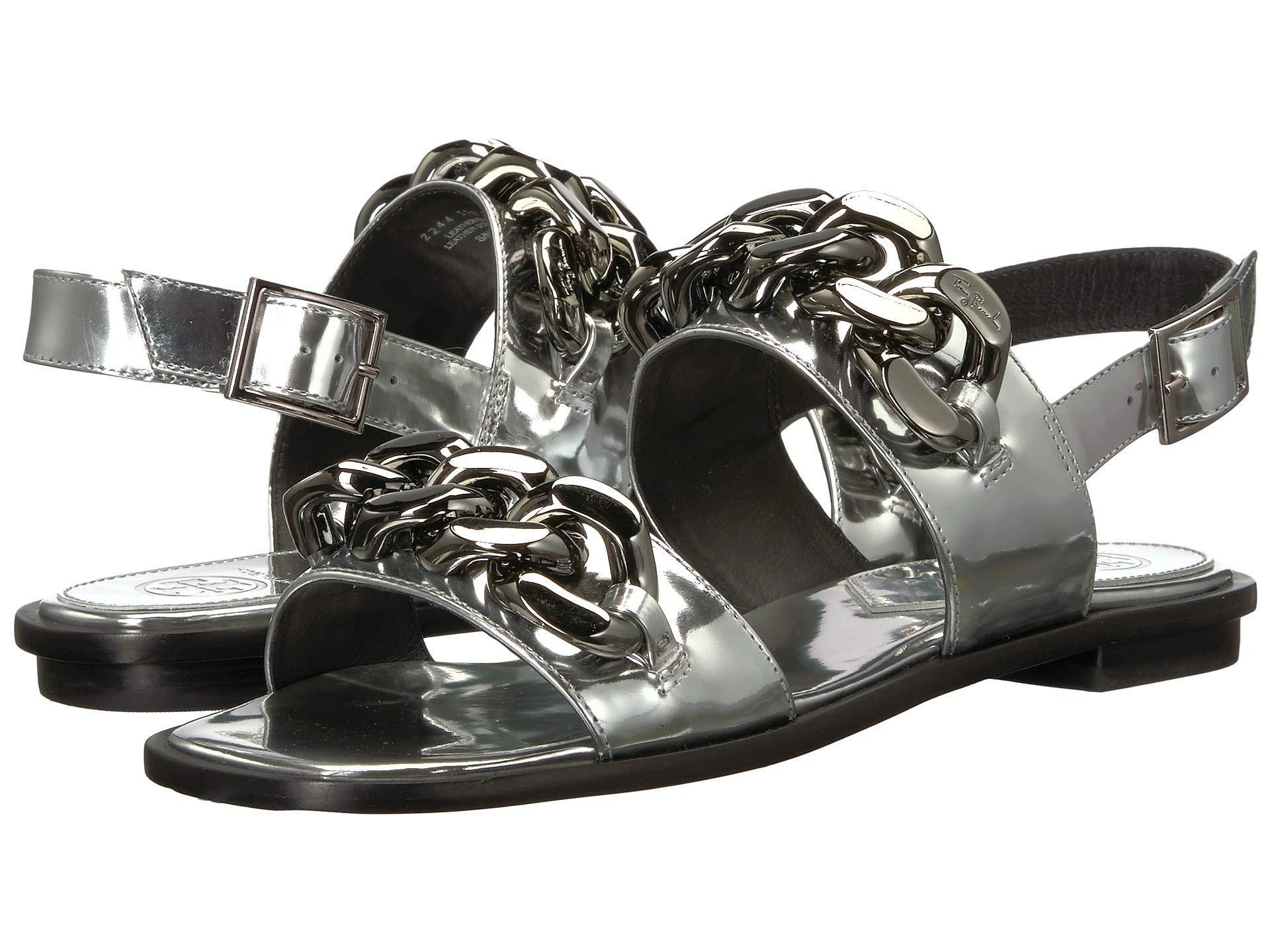 c5cae7c0260 Lyst - Tory Burch Adrien Sandal (silver) Women s Sandals in Metallic