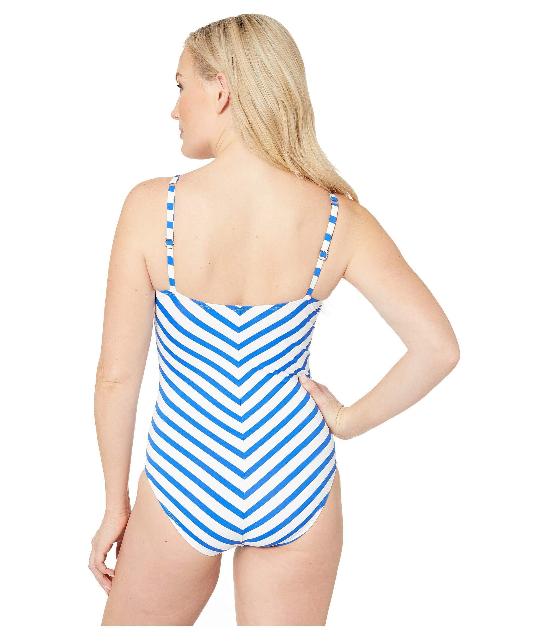 2b2d9a9b04 Tommy Bahama - Beach Glass Stripe Over The Shoulder One-piece (beach Glass  Blue. View fullscreen