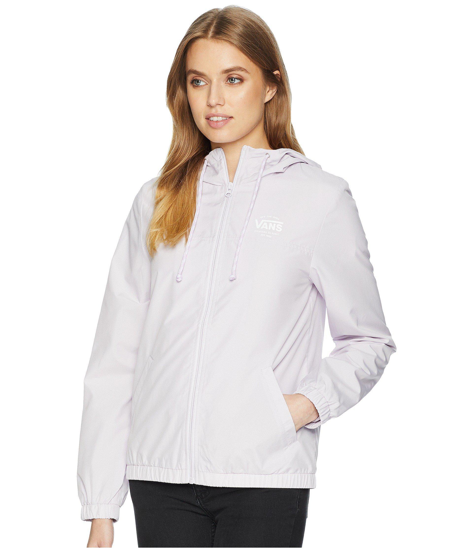 9ef81e0114 Lyst - Vans Kastle Ii Windbreaker (lavender Fog) Women s Coat in White