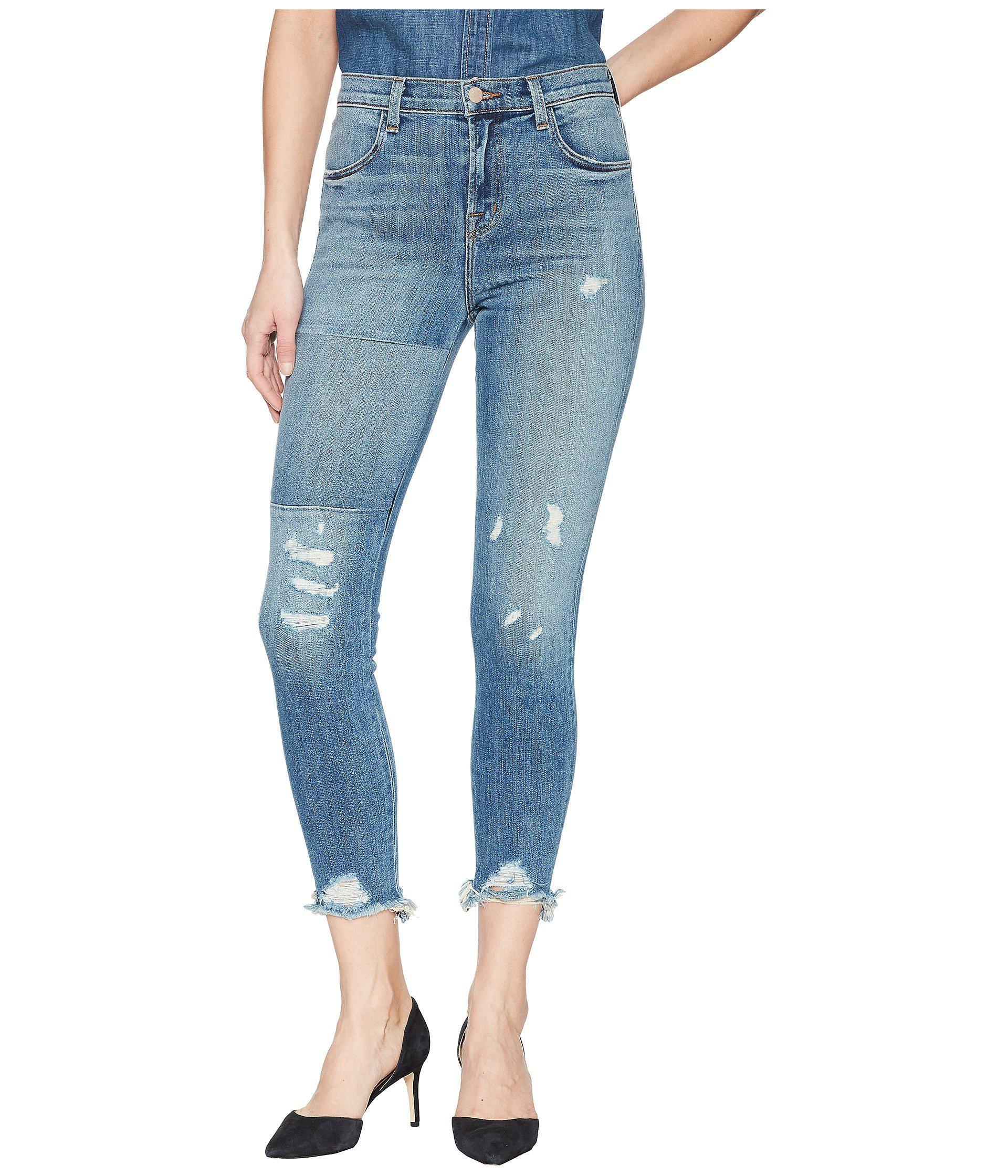 J Brand. Women's Blue Alana High-rise Crop Skinny ...