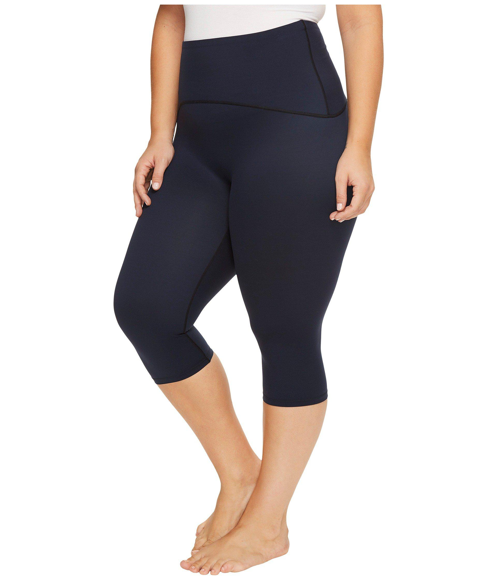 e276e50550fce Lyst - Spanx Plus Size Active Compression Knee Pants in Blue