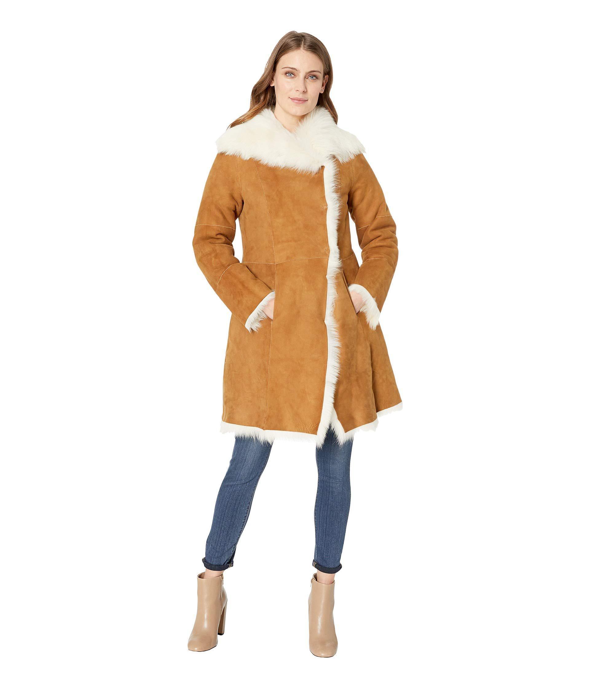 Ugg chestnut vanesa toscana shearling coat chestnut womens coat jpg  1920x2240 Ugg shearling coat for women 2d7ef1e57