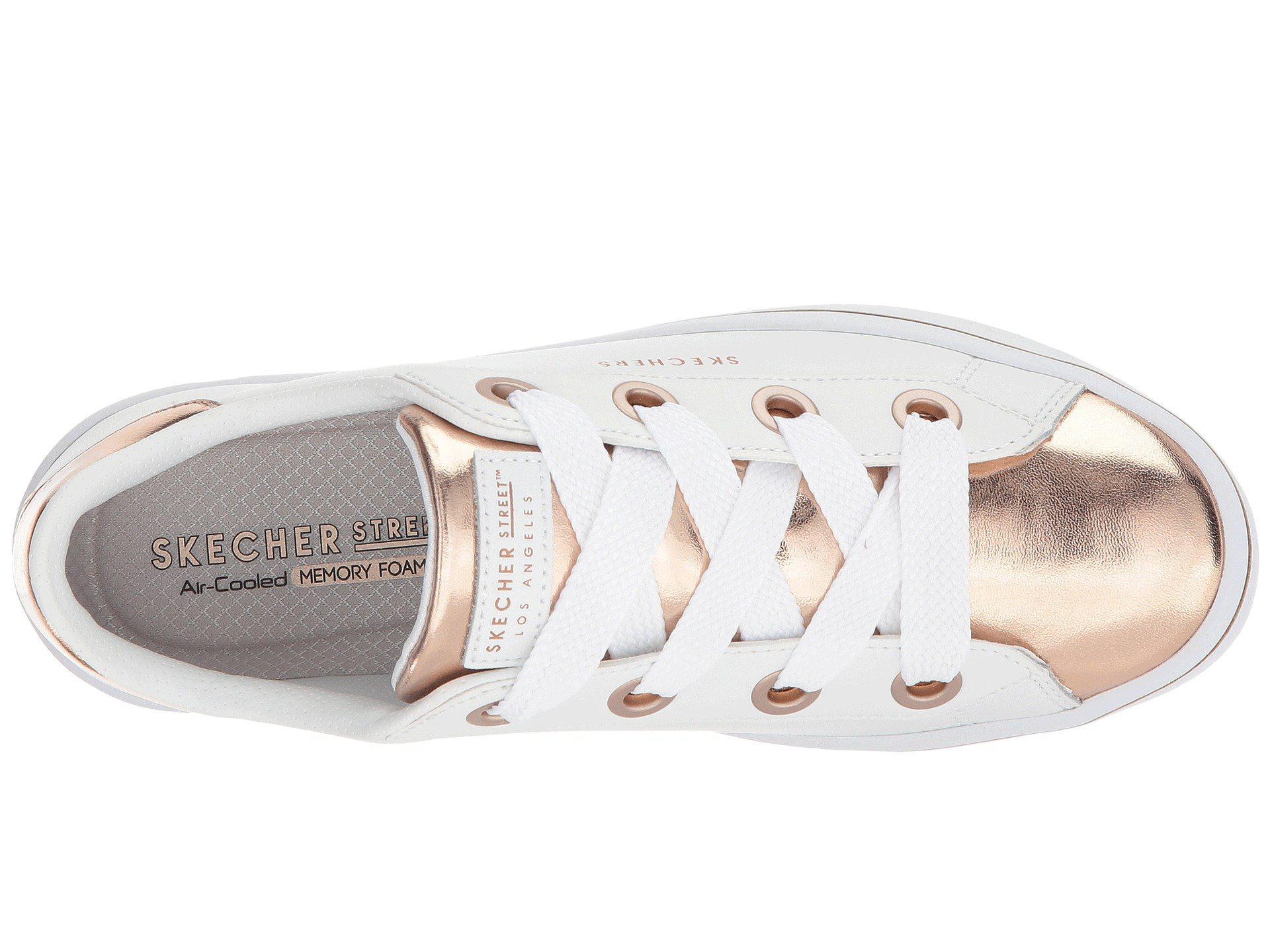 2b7d870c5d56 Skechers - Hi-lite - Medal Toes (white rose Gold) Women s Lace. View  fullscreen