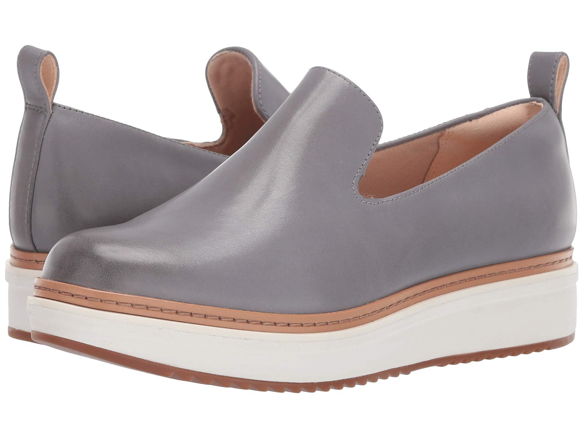 a6e4093db1f Lyst - Clarks Teadale Genna (grey Leather) Women s Slip On Shoes in Gray