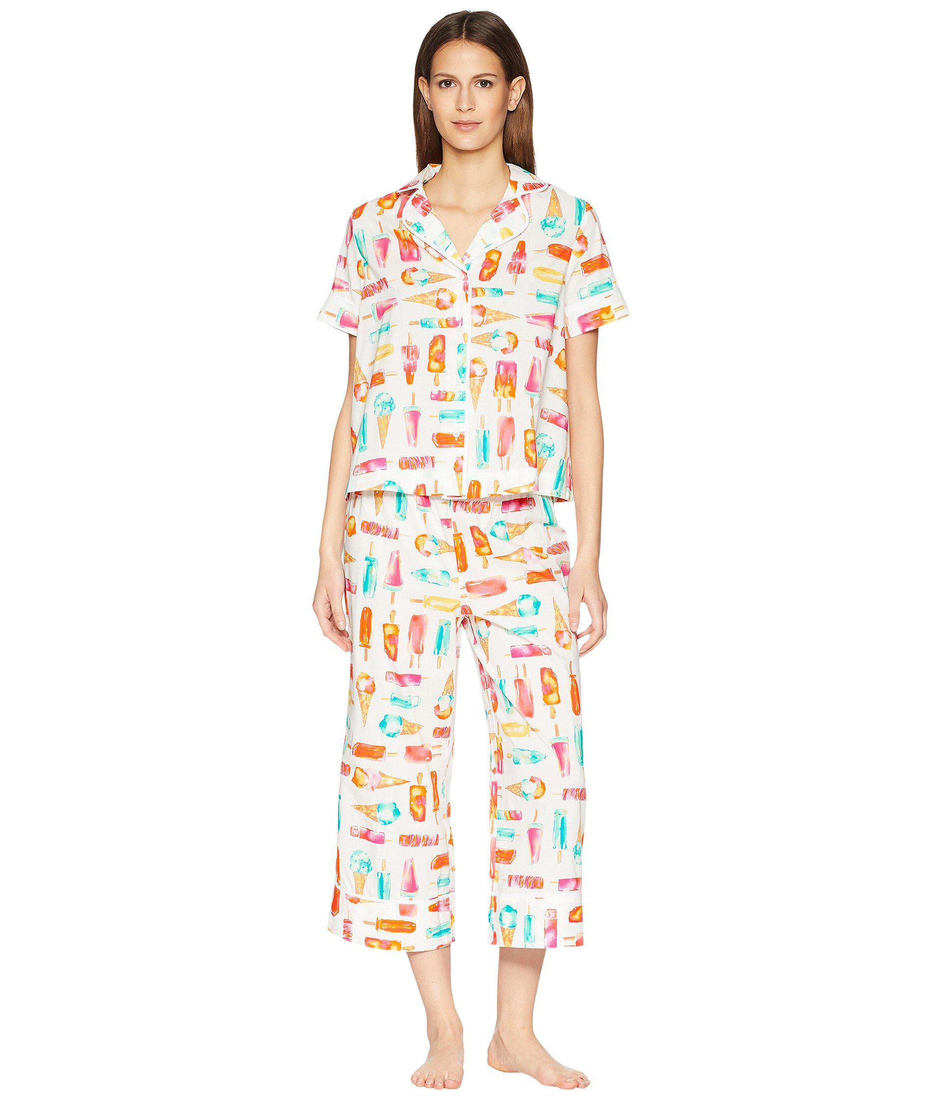 c3be421655f Lyst - Kate Spade Ice Cream Print Cropped Pajama Set