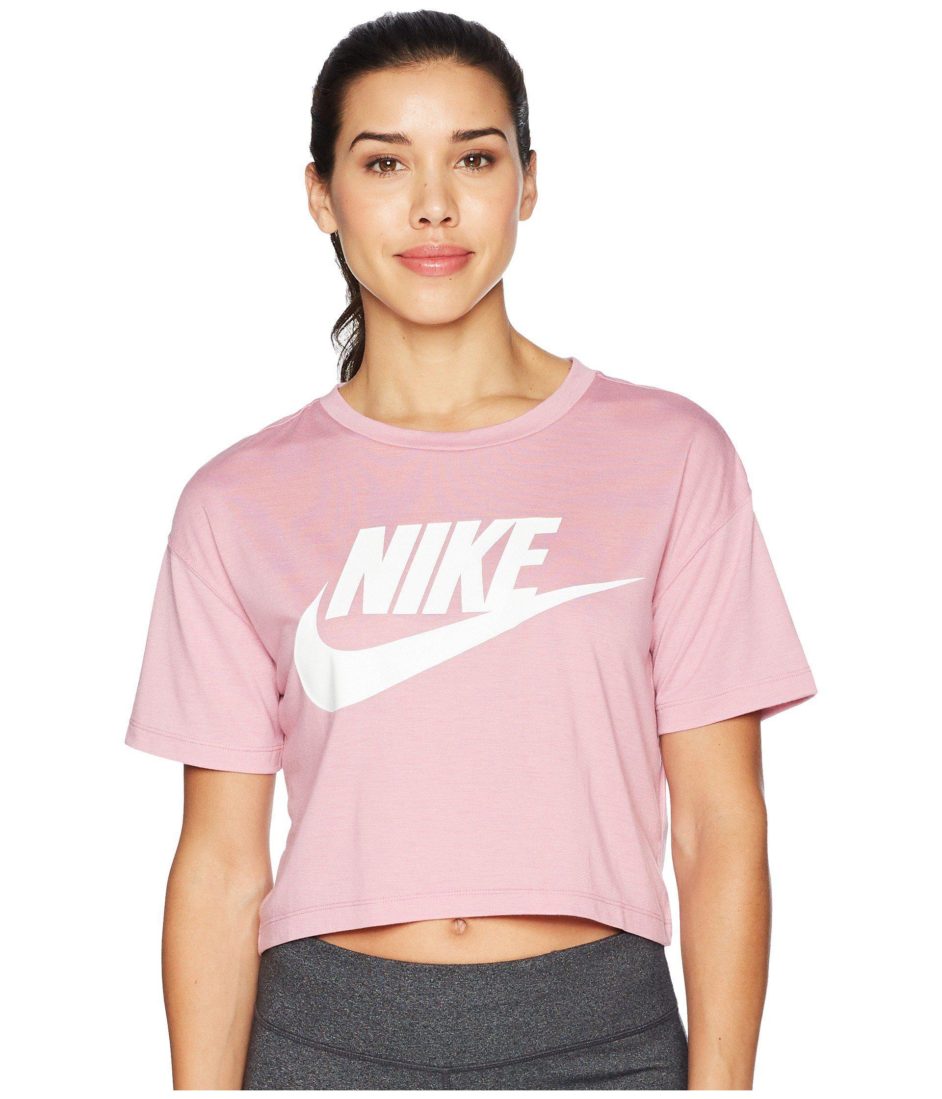 b46f48a68b5 Lyst - Nike Sportswear Essential Crop Top (elemental Pink/elemental ...