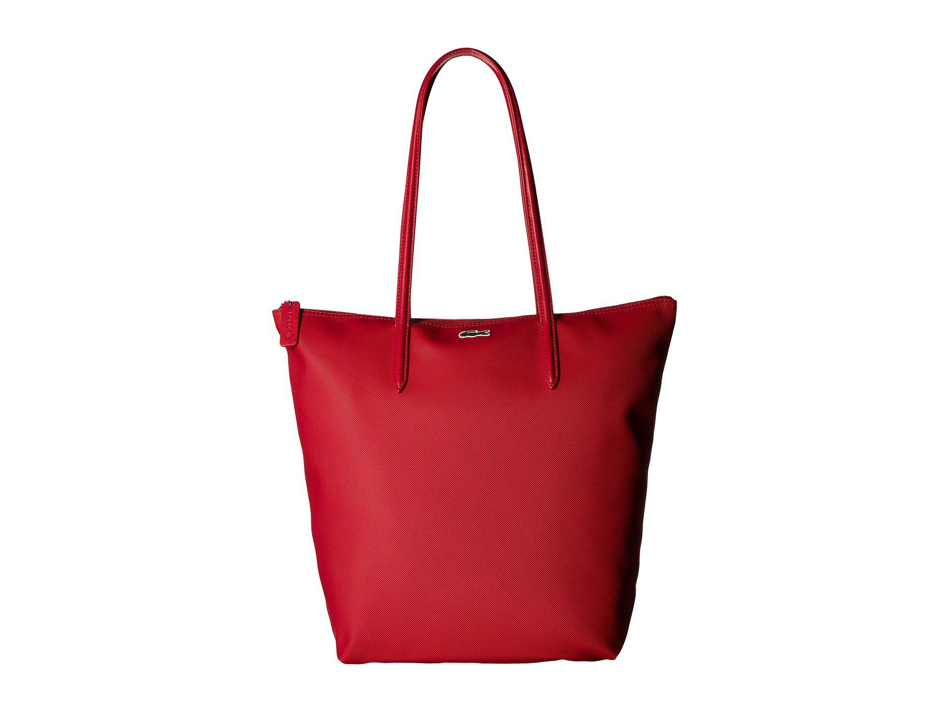 8a2bcd47faaa Lyst - Lacoste L.12.12 Vertical Tote Bag in Red - Save 31%