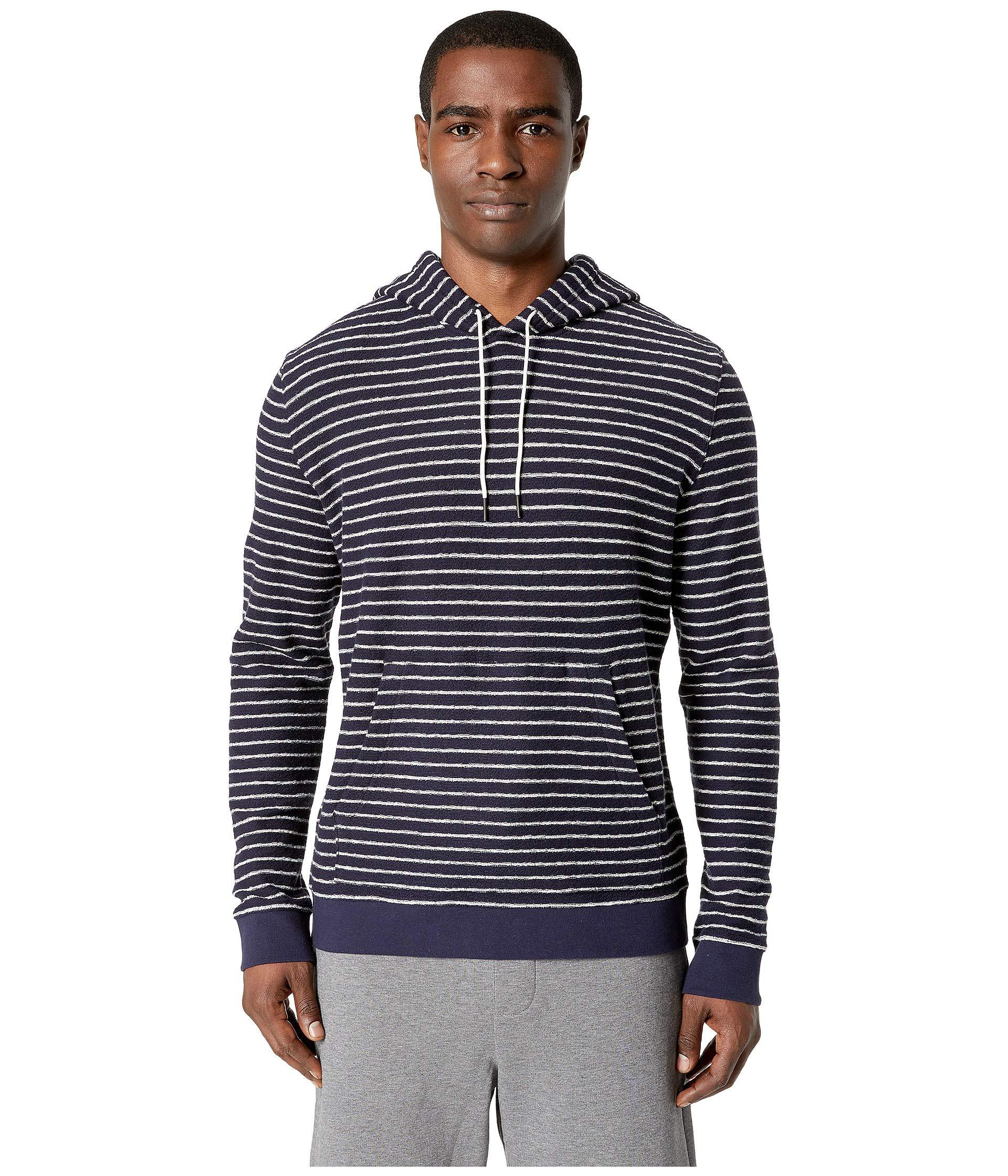 6aed52a1 Lyst - Vince Texture Striped Pullover Hoodie (coastal/white) Men's ...