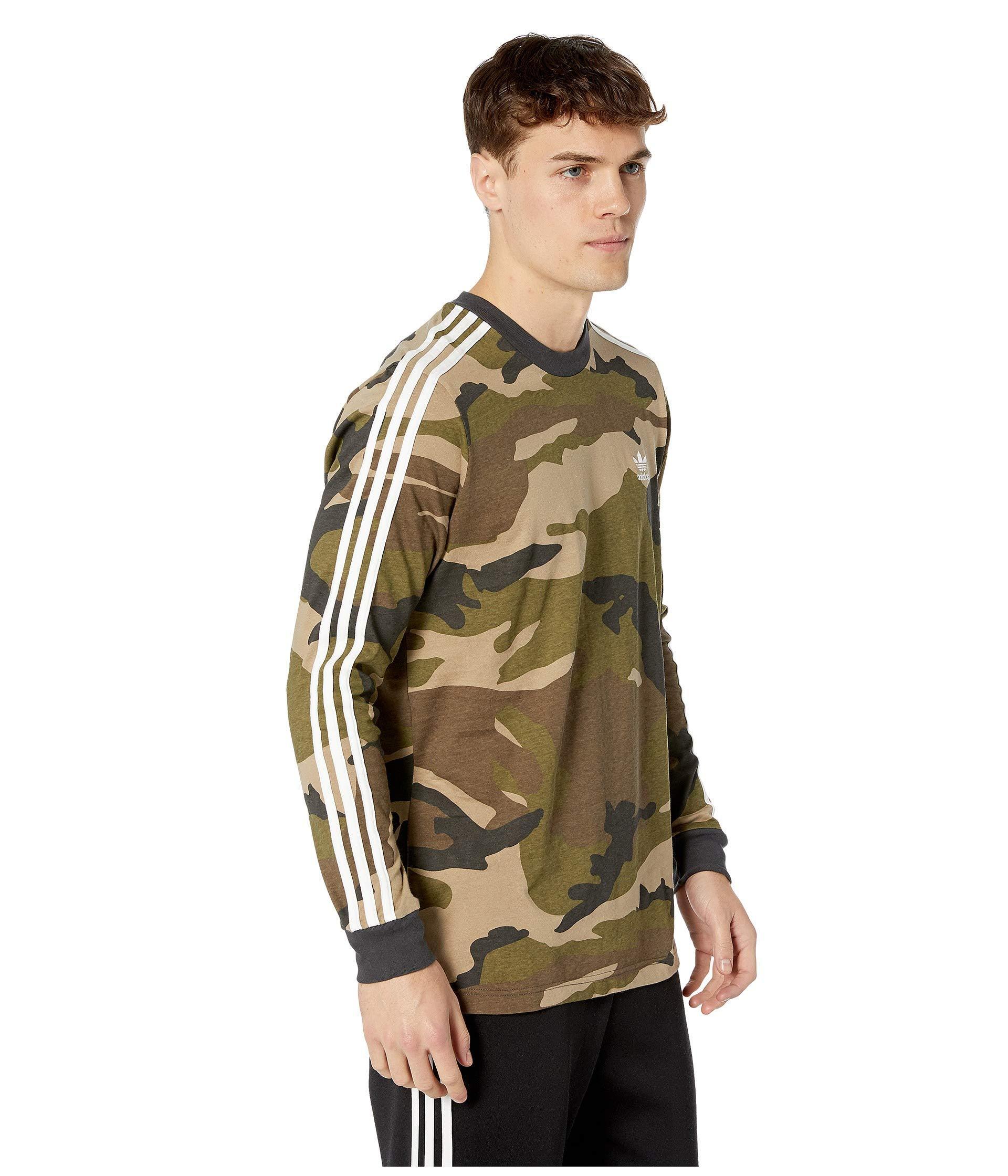 5ffff1b4a0493 adidas Originals Camo Long Sleeve Tee (multicolor/utility Black ...