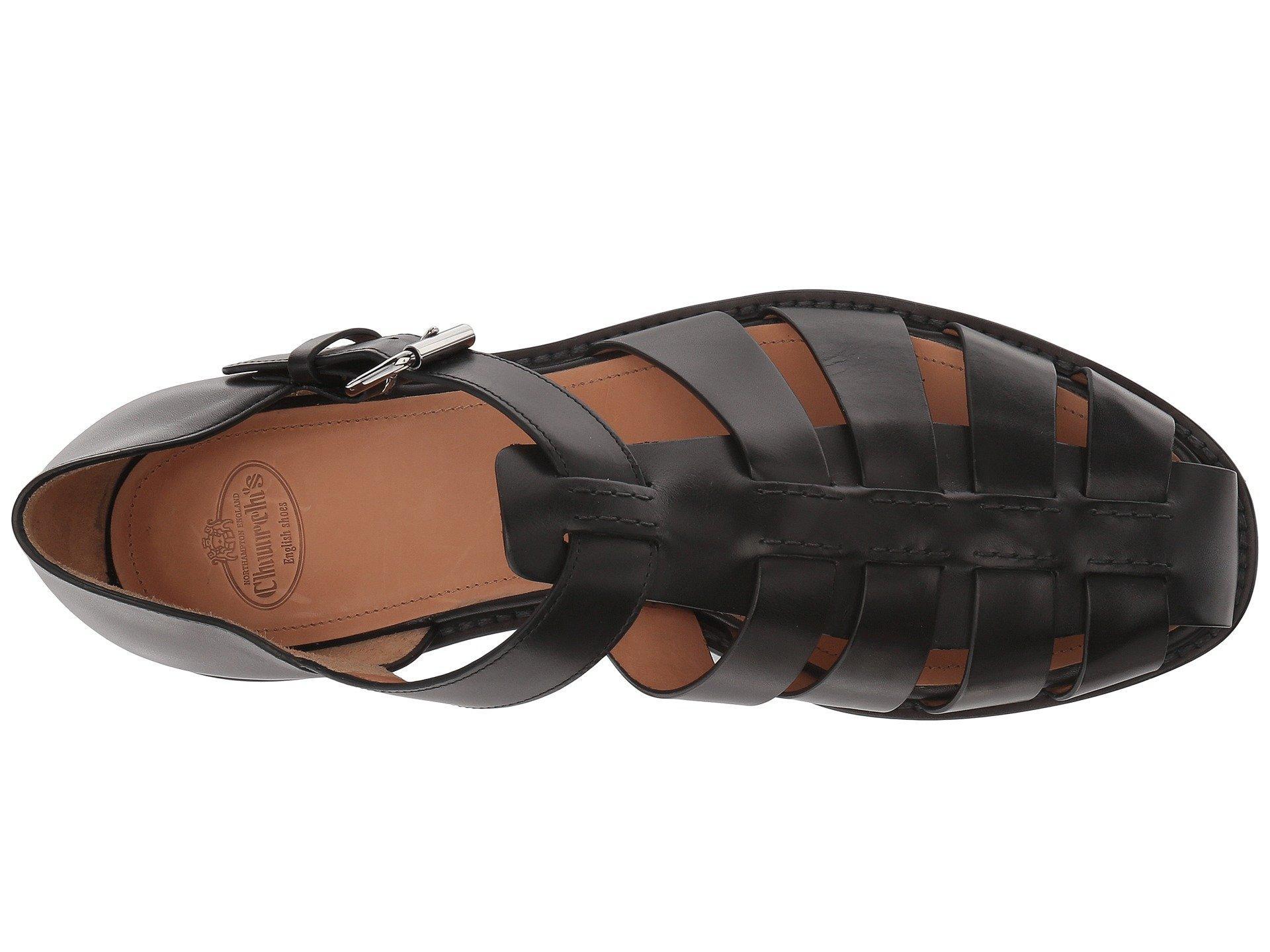 4f66e7593e7d Lyst - Church s Fisherman Sandal (walnut) Men s Sandals in Black for Men