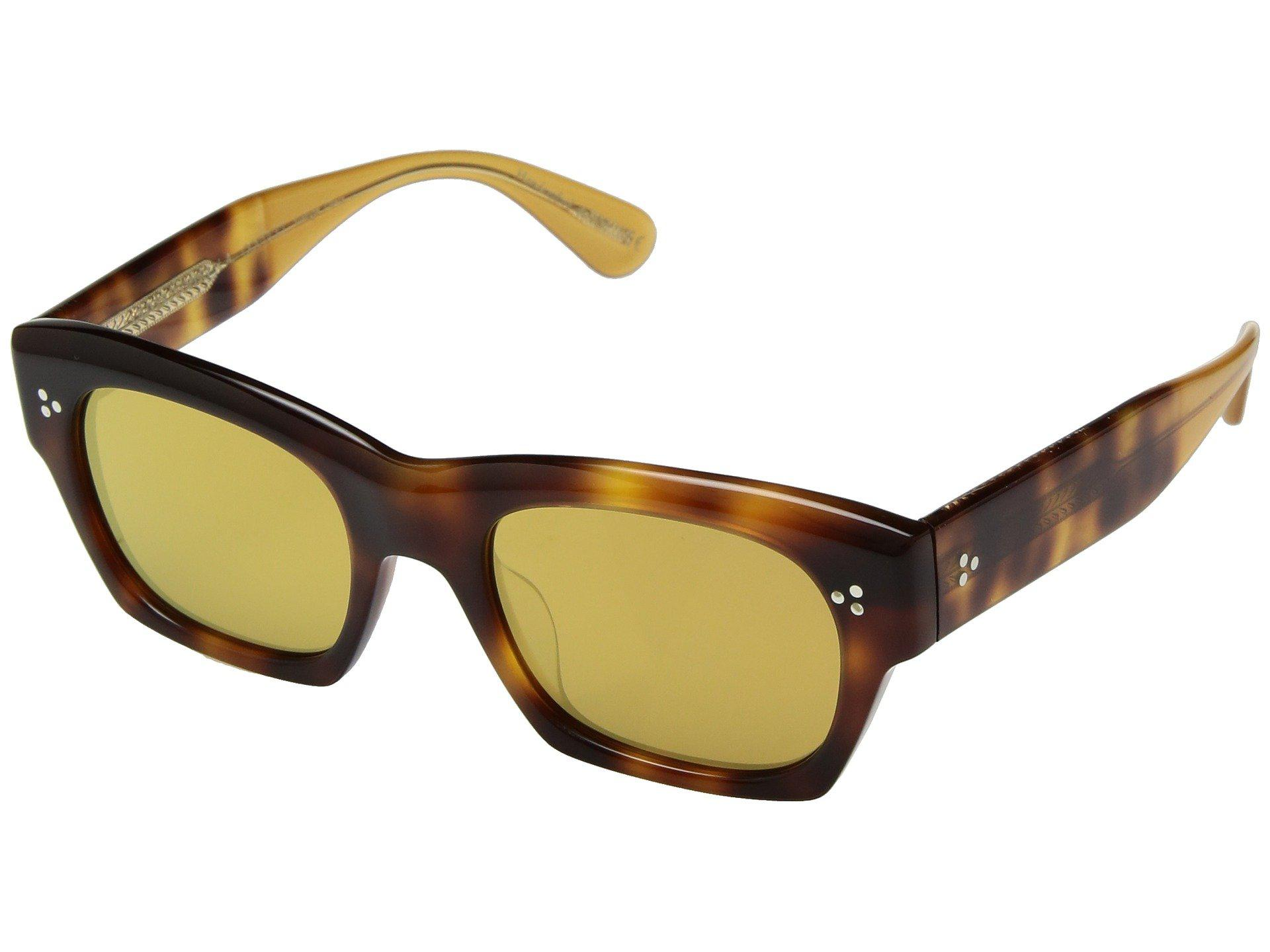 2c307b9e305 Lyst - Oliver Peoples Isba (dark Mahogany amber Gold Tone) Fashion ...