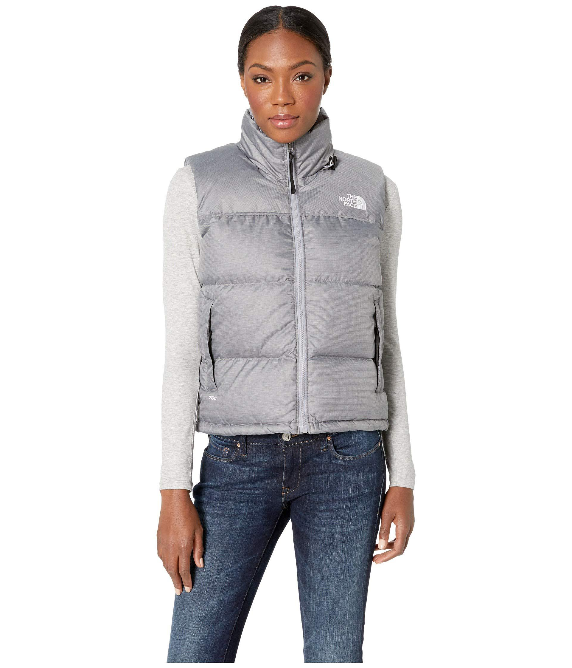 The North Face. Gray 1996 Retro Nuptse Vest (tumbleweed Green) Women s Vest 275abb4ad