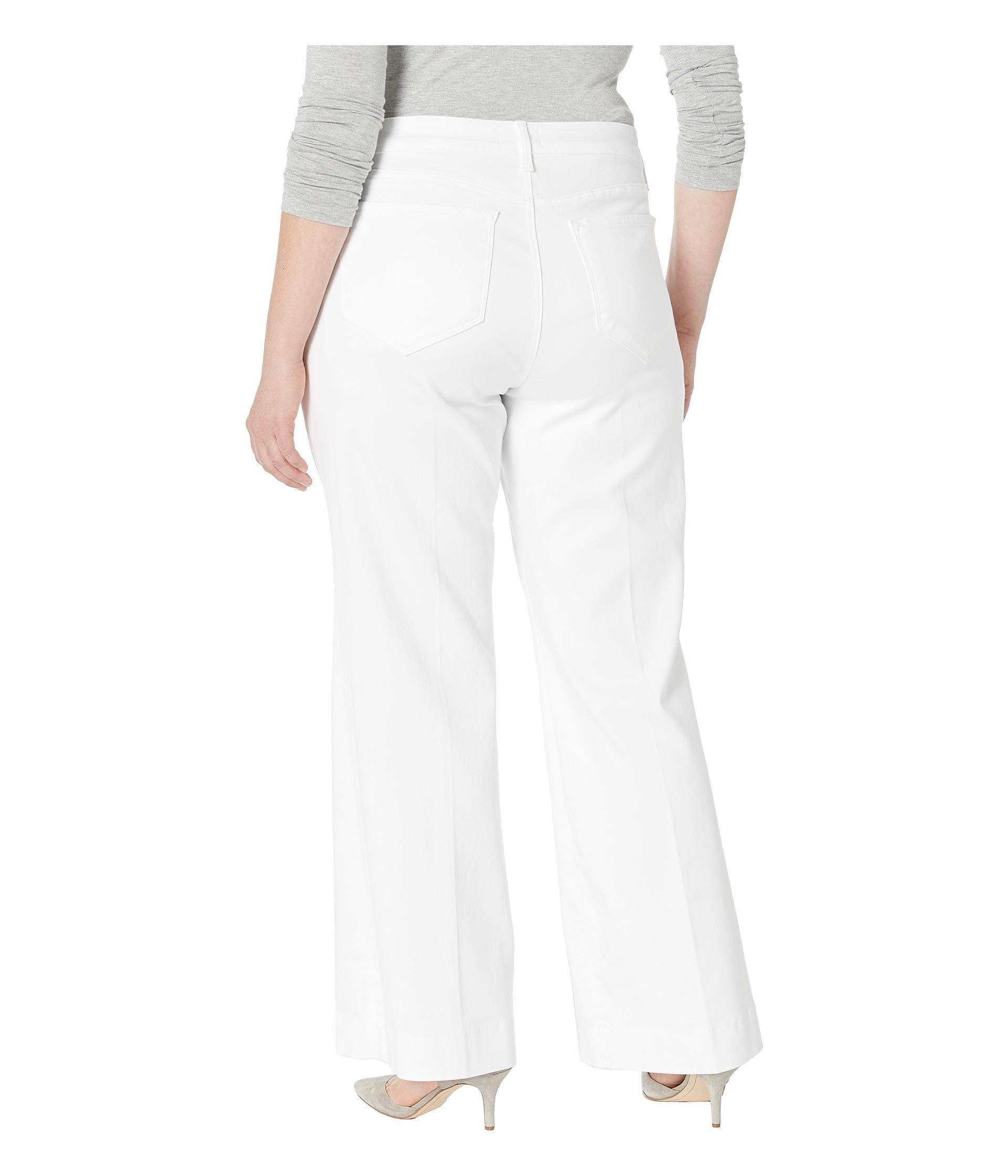 c6163f28ec3b2 NYDJ - Plus Size Teresa Trousers In Optic White (optic White) Women s Jeans  -. View fullscreen