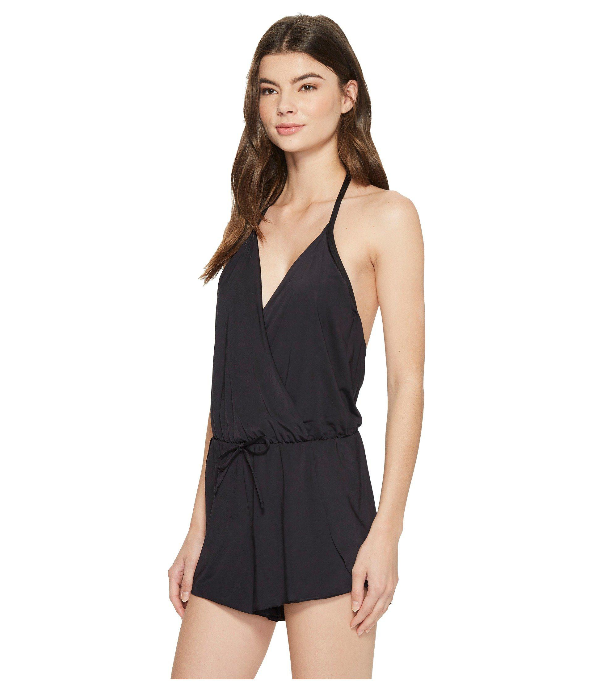 ab5bf06c79b Lyst - Kenneth Cole Ready To Ruffle Romper Cover-up (black) Women s ...