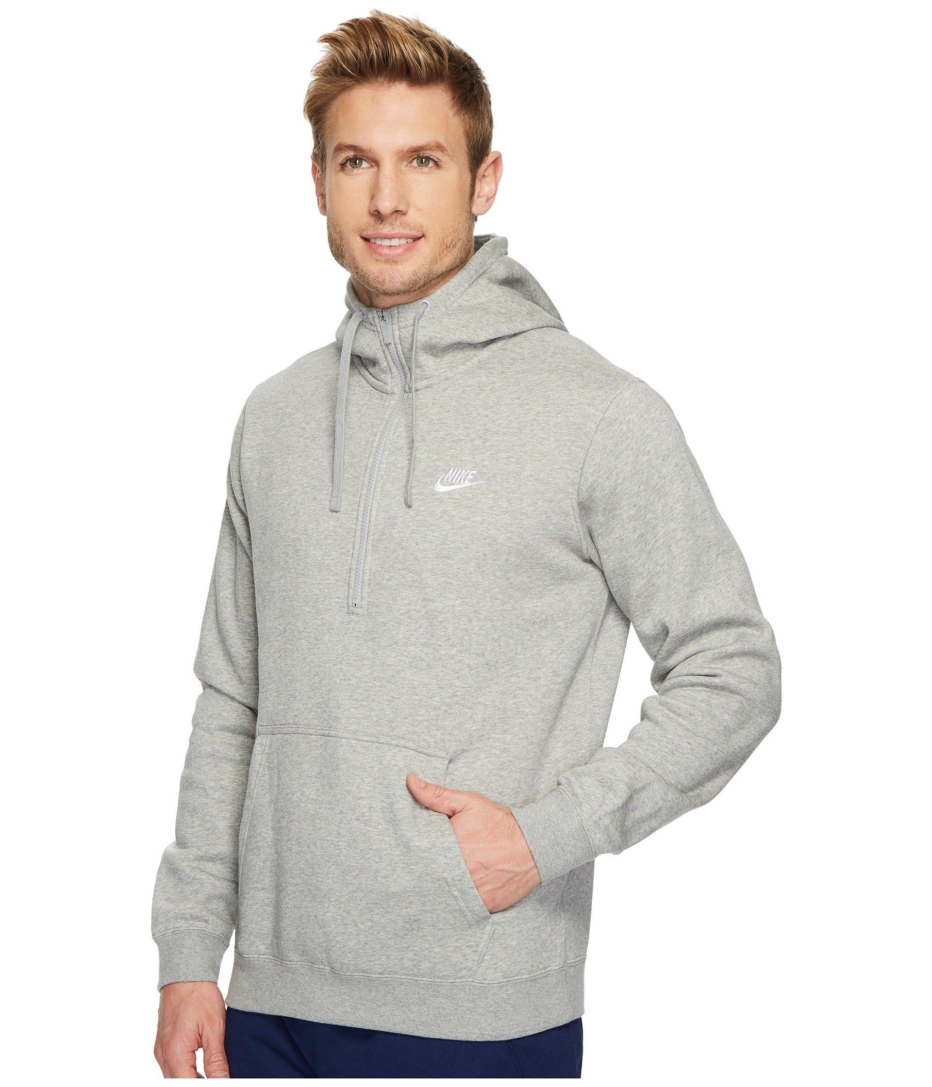 226682711e98 Lyst - Nike Sportswear 1 2 Zip Hoodie (black black white) Men s Sweatshirt  in Gray for Men