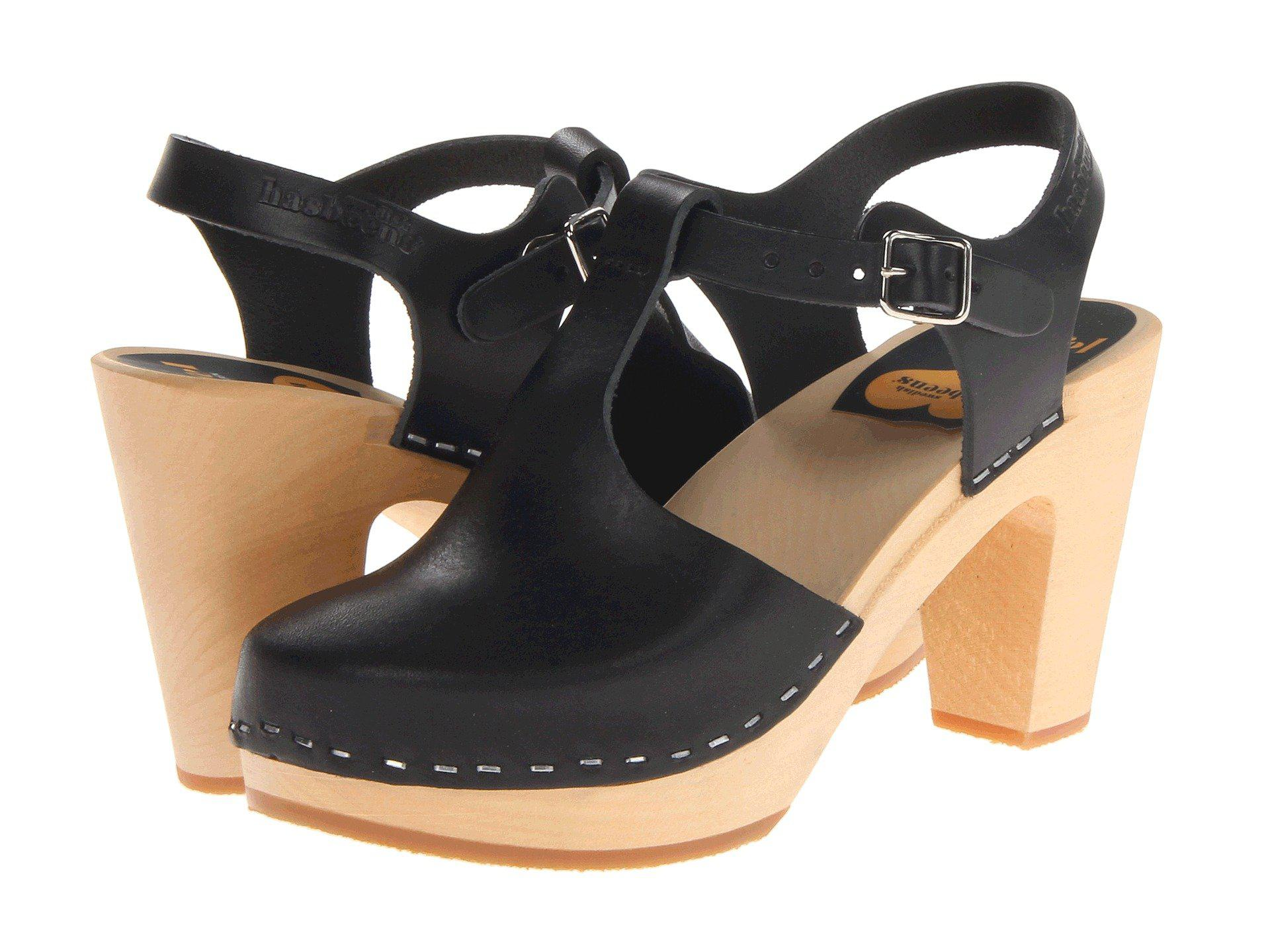 Lyst - Swedish Hasbeens T-strap Sky High (nature) Women s Clog Shoes ... b8f506095