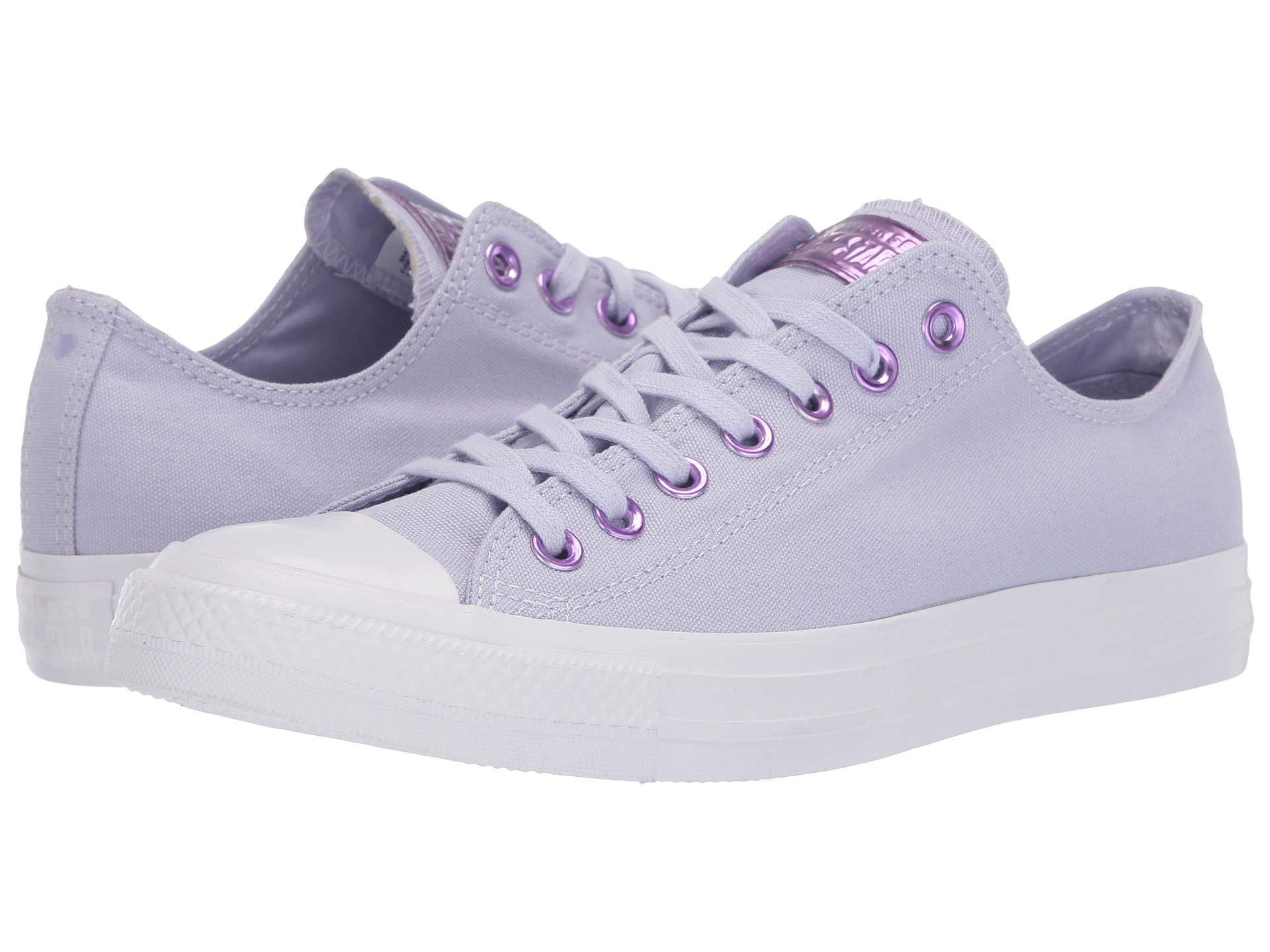Women s Chuck Taylor(r) All Star(r) Hearts Ox (oxygen Purple washed  Lilac white) Athletic Shoes 07a43b597