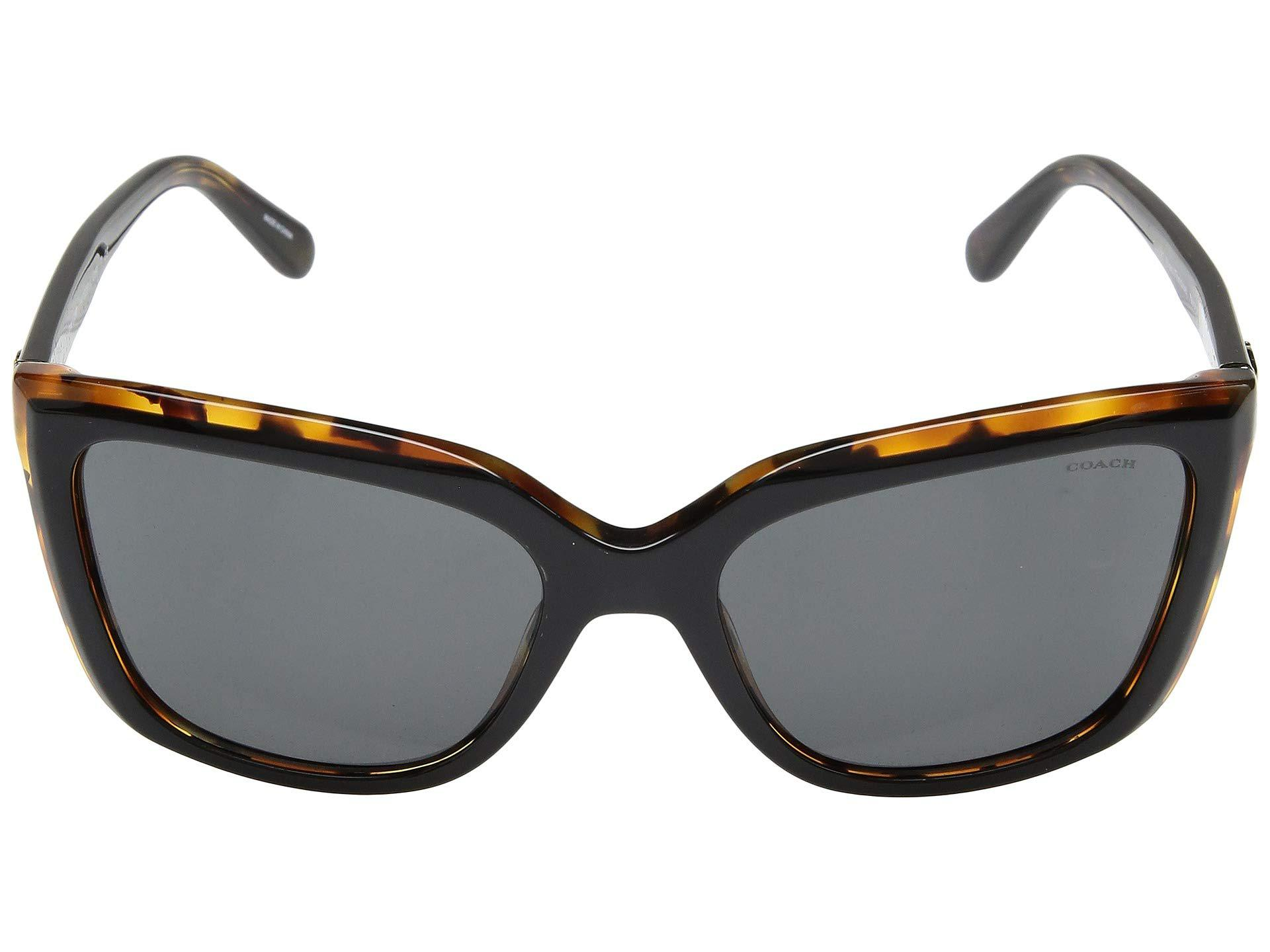 63b1427fd047 COACH - 0hc8261 56mm (black Tortoise/dark Gray Solid) Fashion Sunglasses -  Lyst. View fullscreen