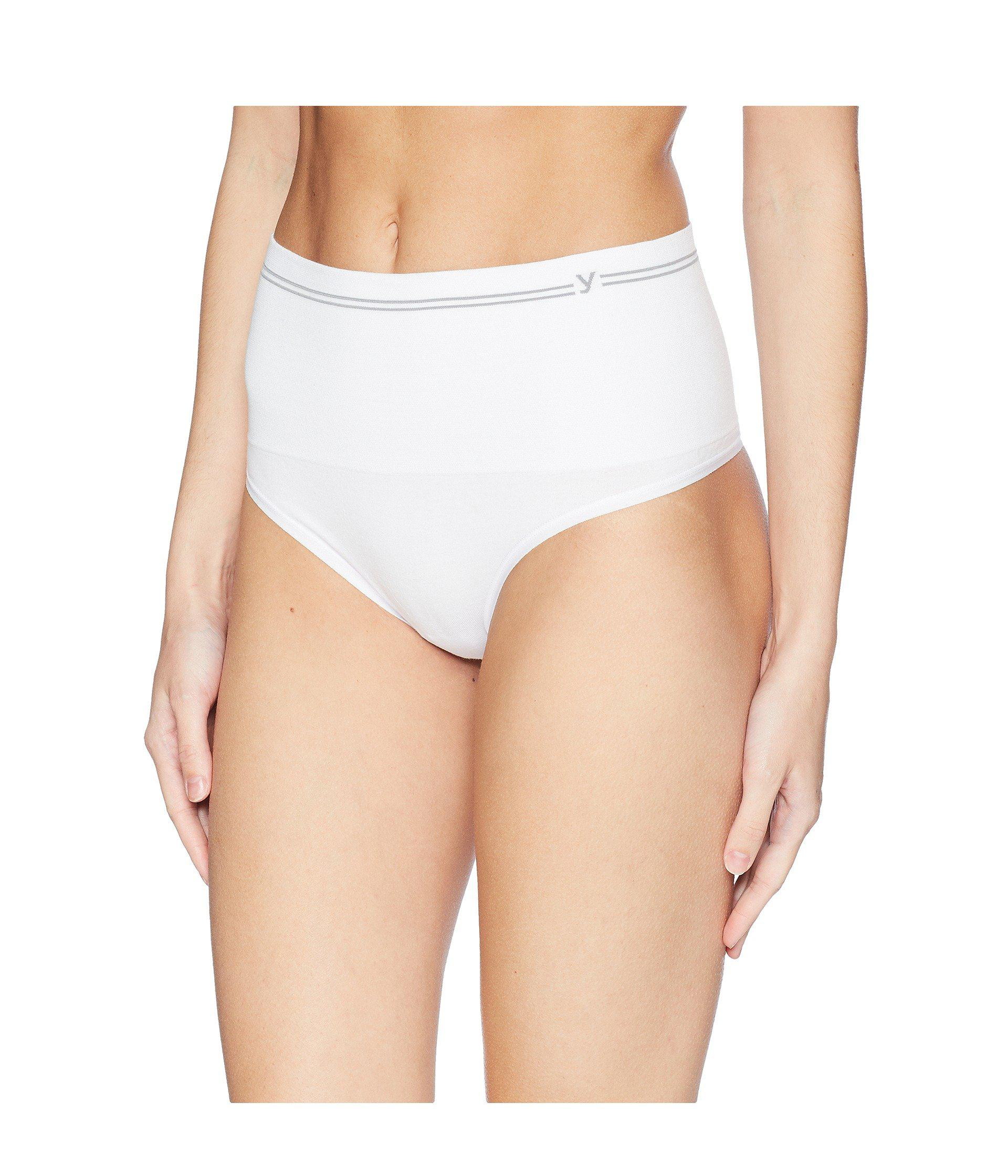 695647f8cb761 Lyst - Yummie Cotton Seamless Shaping Thong (black) Women s Underwear in  White