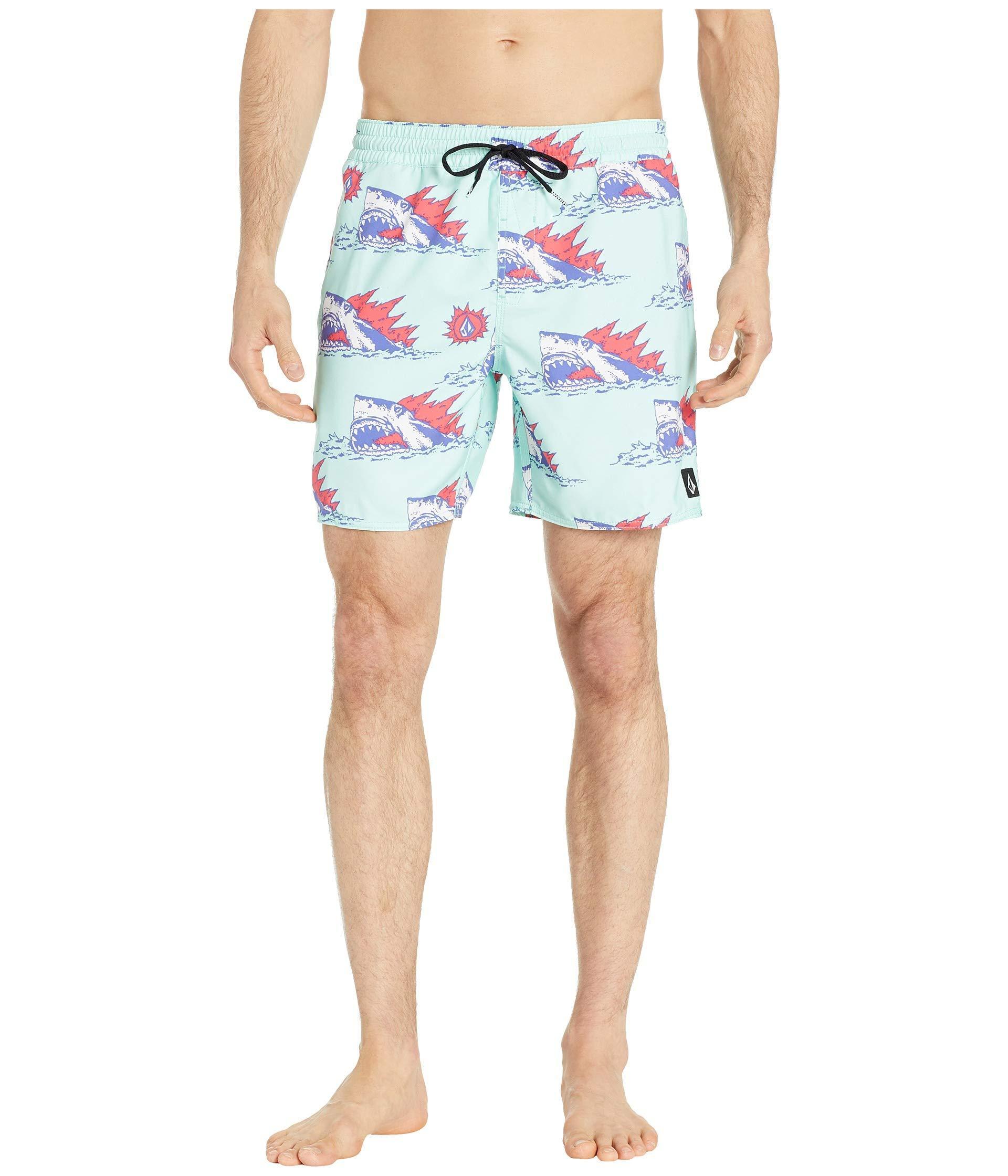 5961e61b8e Lyst - Volcom Duhh Dunt Trunks (seaglass) Men's Swimwear in Blue for Men