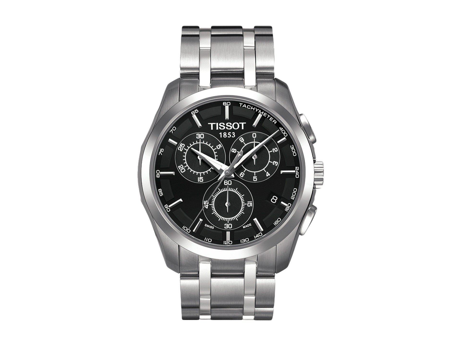 Lyst Tissot Couturier Chronograph T0356171105100 Black Grey T0356271605100 View Fullscreen