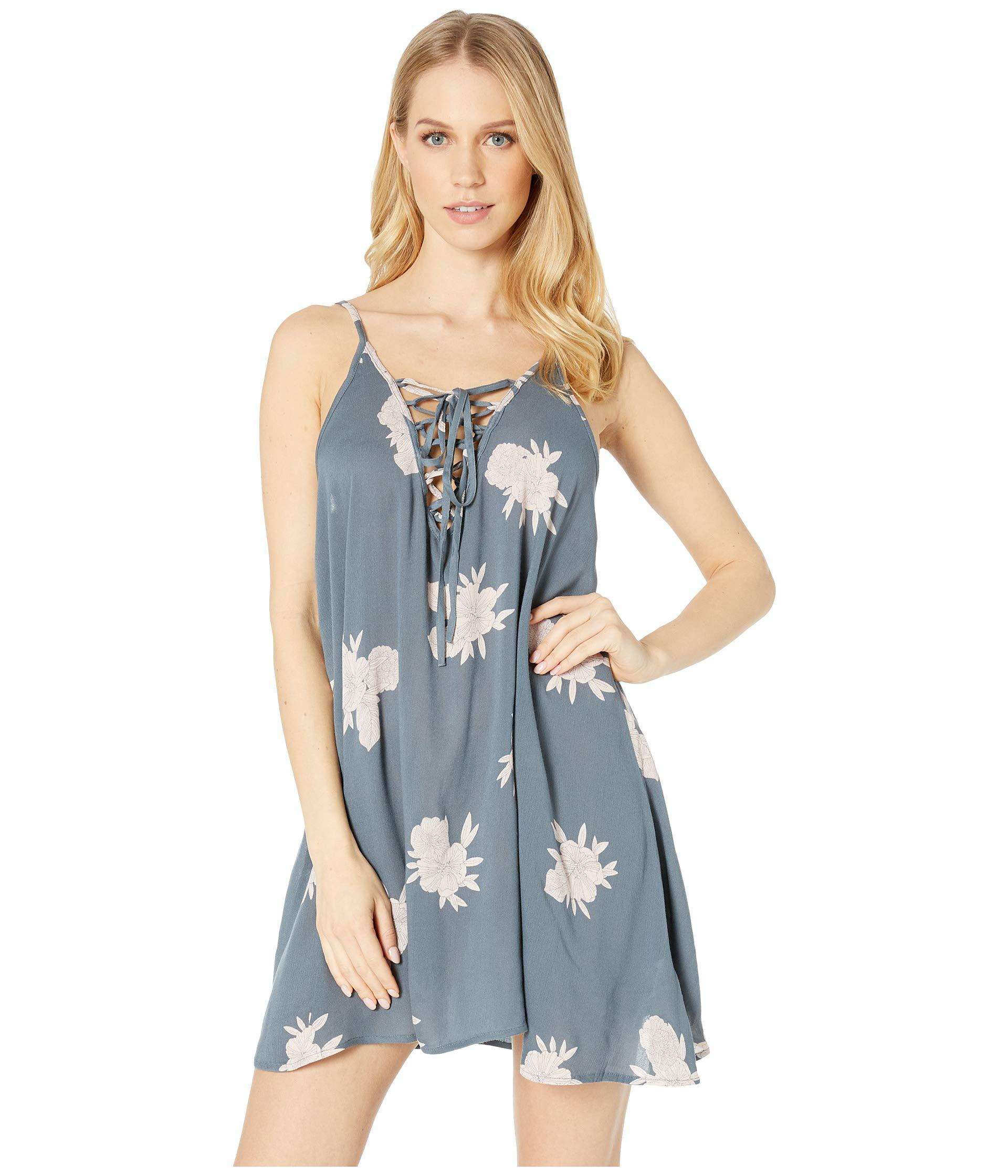 3ecf2048f0fb Lyst - Roxy Softly Love Printed Dress Cover-up (turbulence Rose And ...