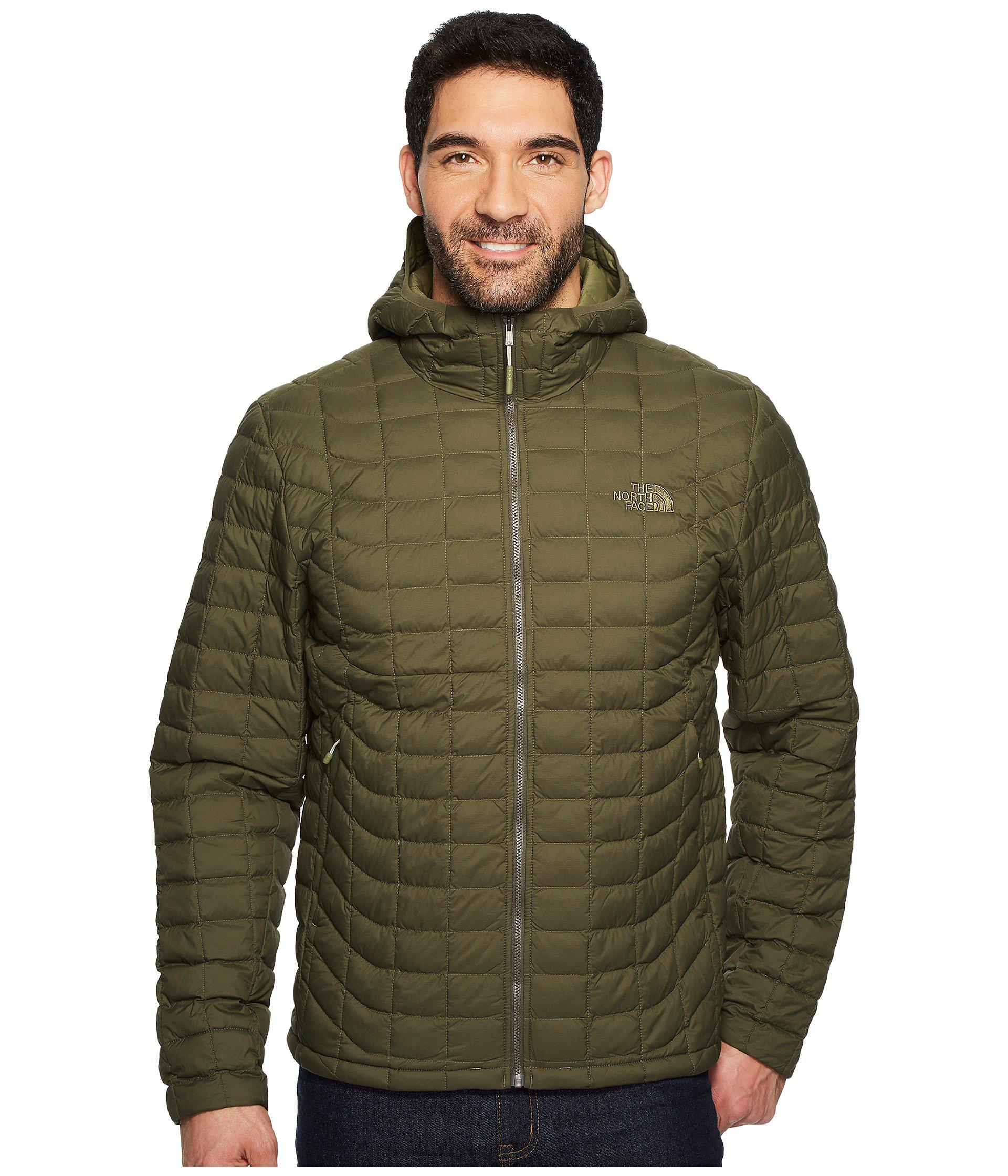 lyst the north face thermoball hoodie in green for men. Black Bedroom Furniture Sets. Home Design Ideas