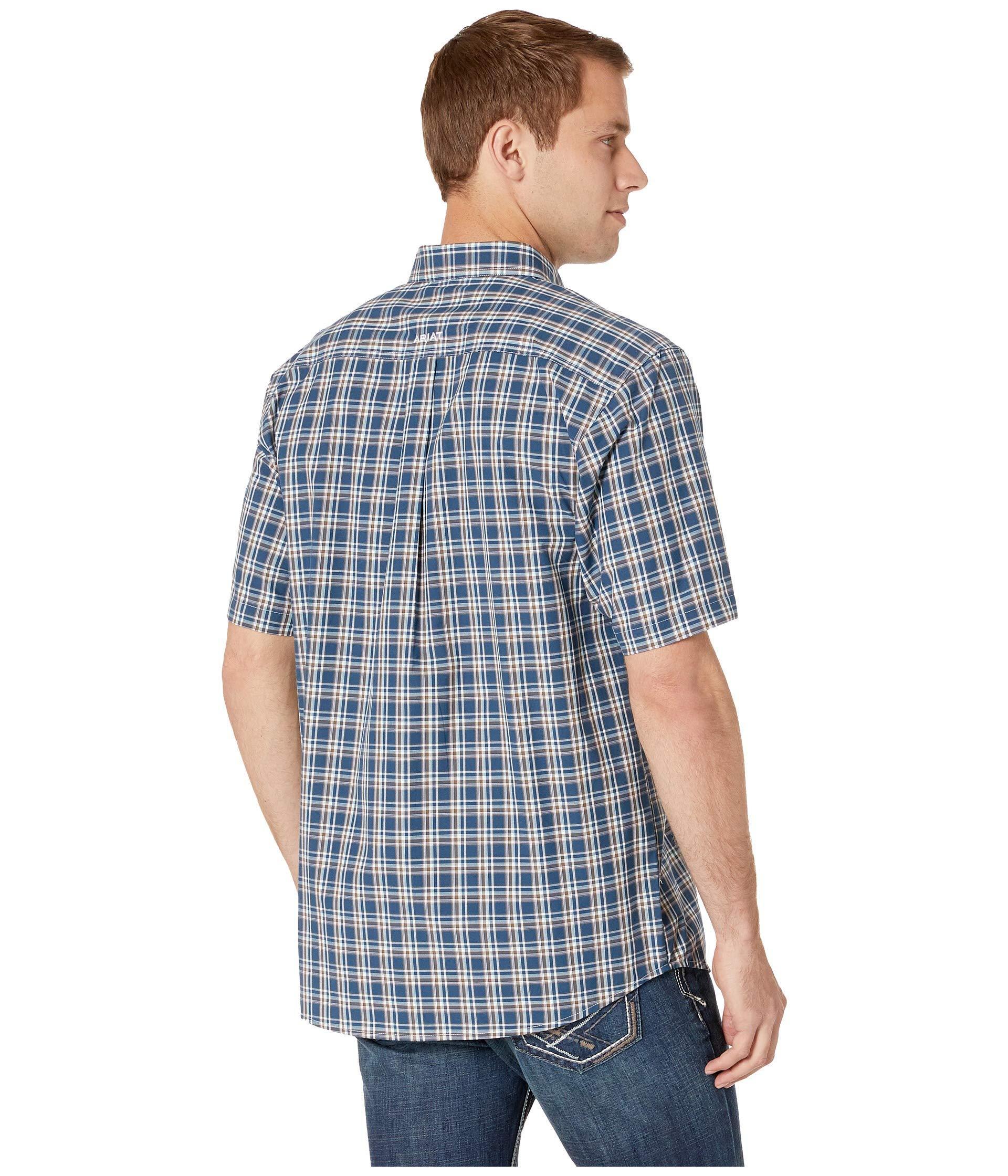 0a6a943d98 Lyst - Ariat Harold Shirt (petrol Blue) Men s Short Sleeve Button Up ...