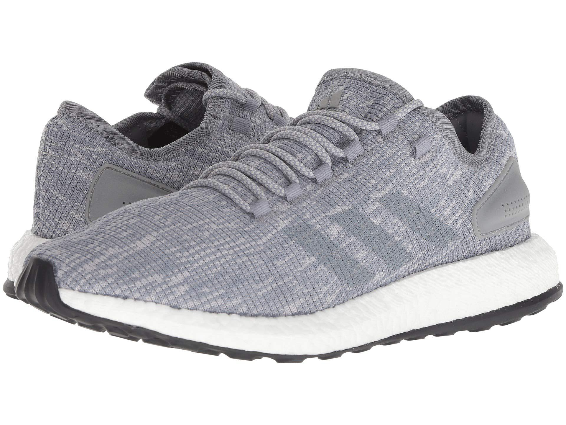 buy popular 0cc61 cc148 adidas Originals. Gray Pureboost (grey Threegrey Twogrey Two) Mens  Running Shoes