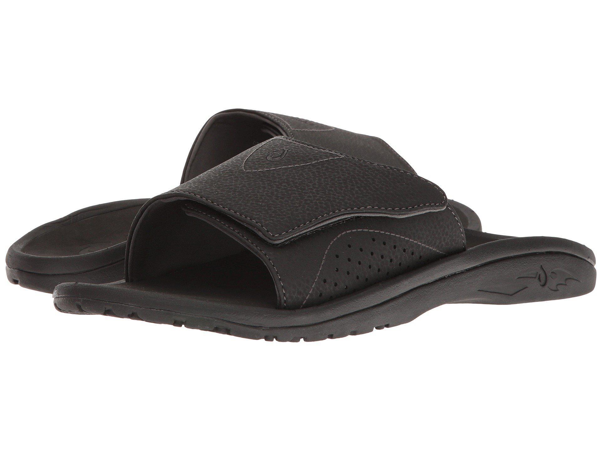 721d2953054b Lyst - Olukai Nalu Slide (black black) Men s Slide Shoes in Black