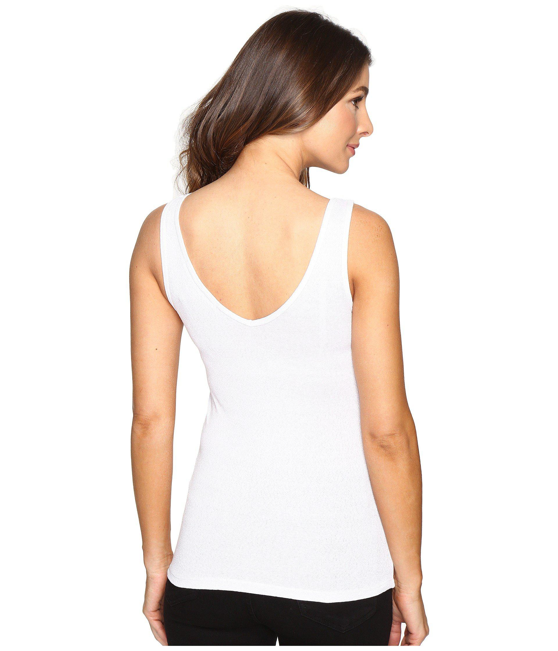 17723e6310f40 Michael Stars - White Shine Double Front V-neck Tank Top (black) Women s.  View fullscreen