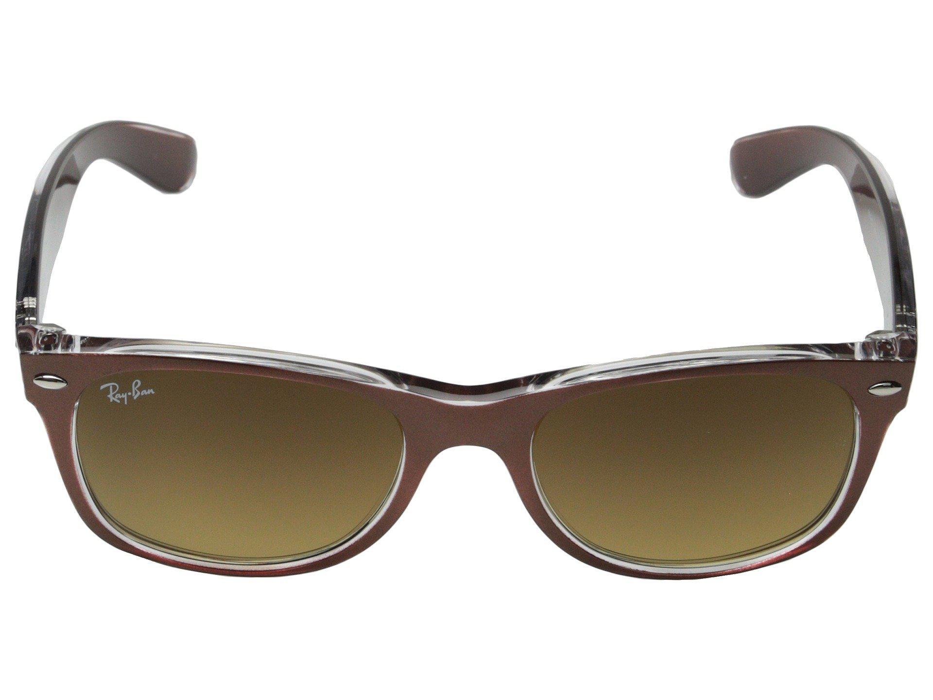 43d5c1864571d ... low price ray ban brown rb2132 new wayfarer 52mm black tan sport  sunglasses . view fullscreen