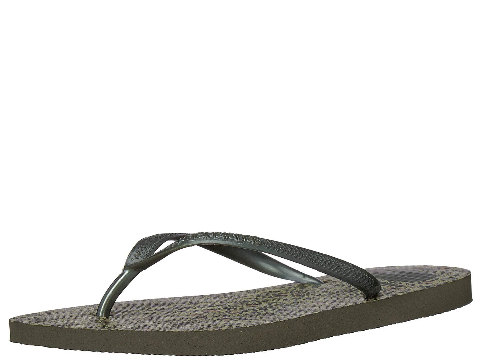 82dff277d Havaianas - Green Flip Flops Slim Animals - Lyst. View fullscreen